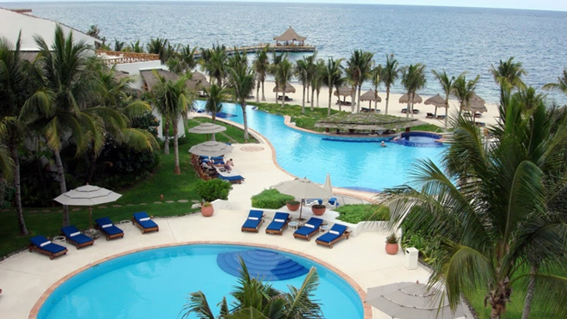 The swinger's Desire resort is located off the Puerto Morelos's public beach, where residents can get an unobstructed view inside.