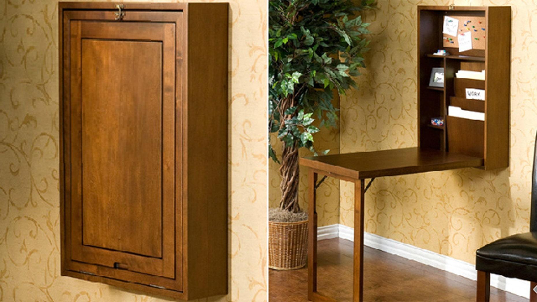 Designer picks discrete desks for small spaces fox news - Armoire for small spaces ...