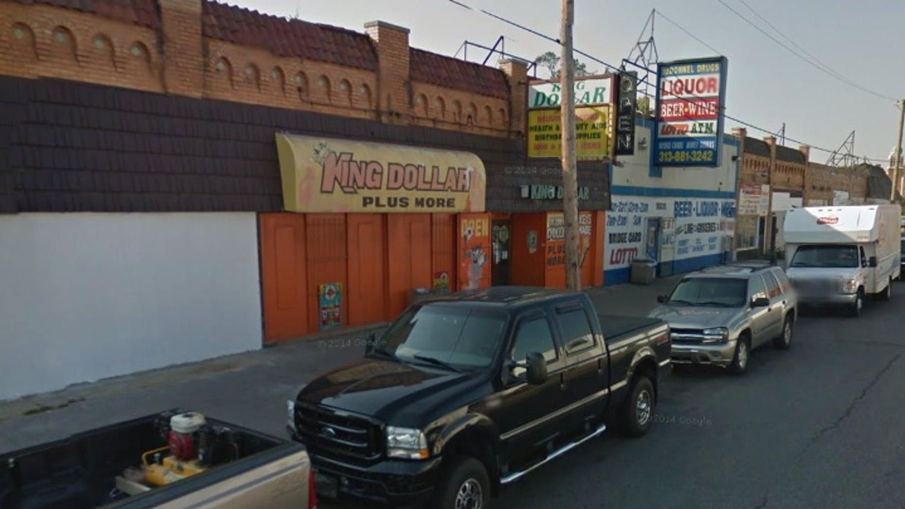 The liquor store in Detroit.
