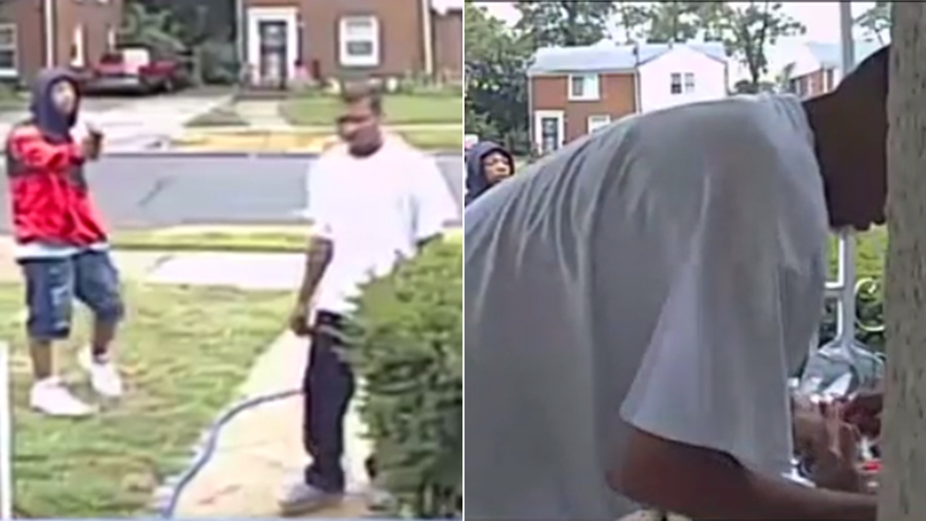 Surveillance footage captured two men targeting a Vietnam veteran outside of his home in Detroit.