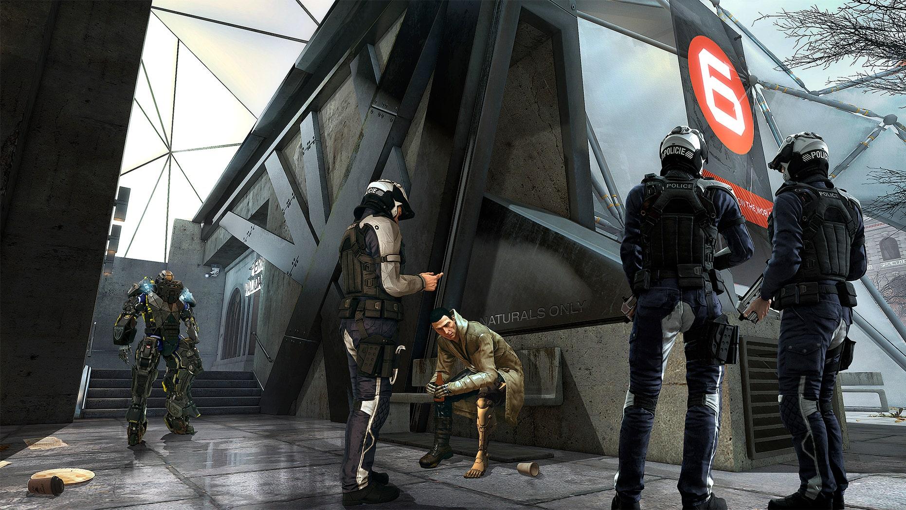 """Deus Ex: Mankind Divided"" screenshot (Square Enix)."