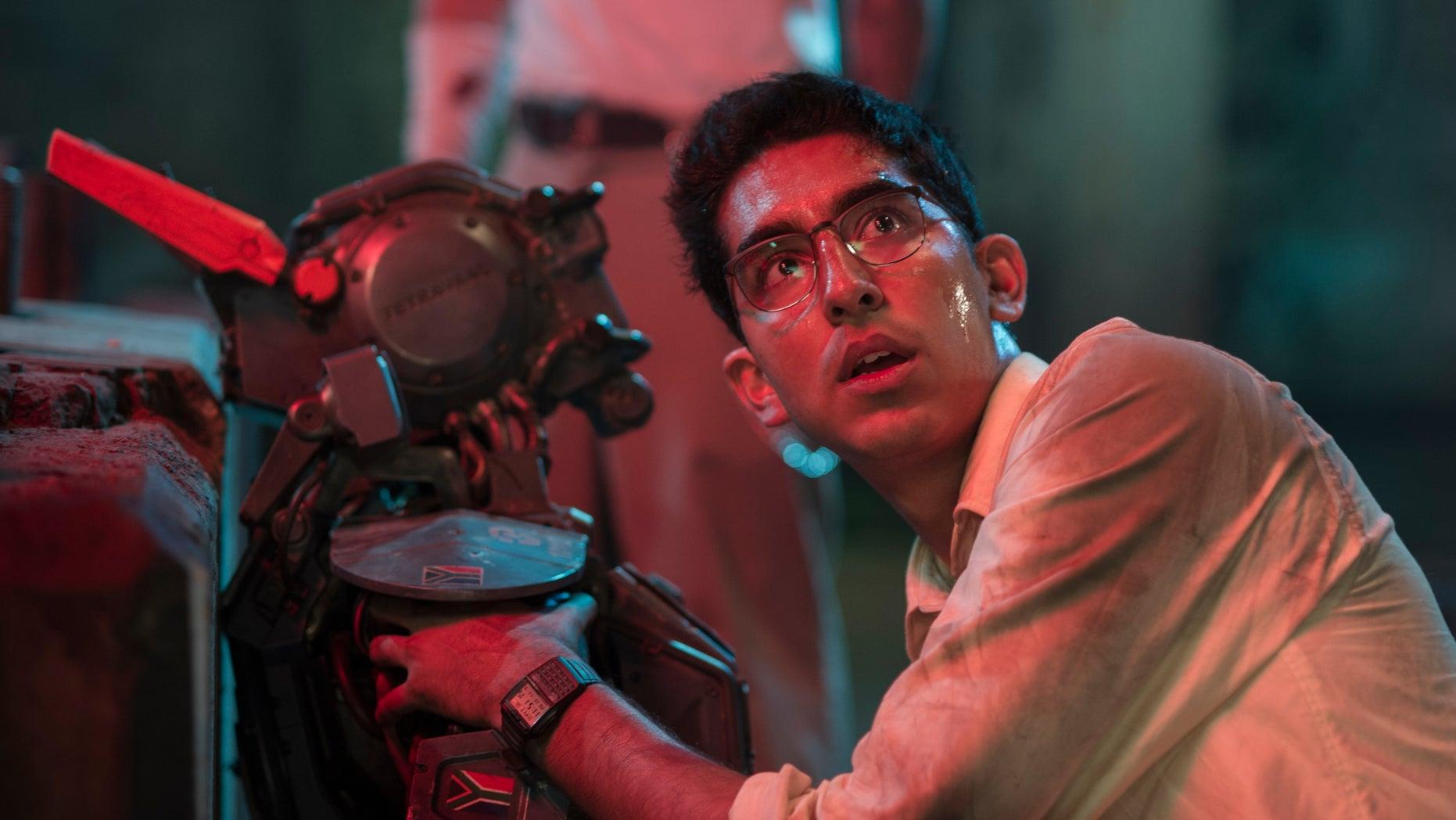 """Dev Patel in """"Chappie."""""""