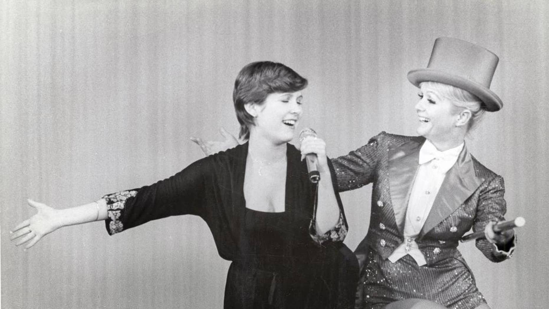 "An image from the HBO documentary ""Bright Lights: Starring Carrie Fisher and Debbie Reynolds"" premiering Saturday, January 7 at 8pm."