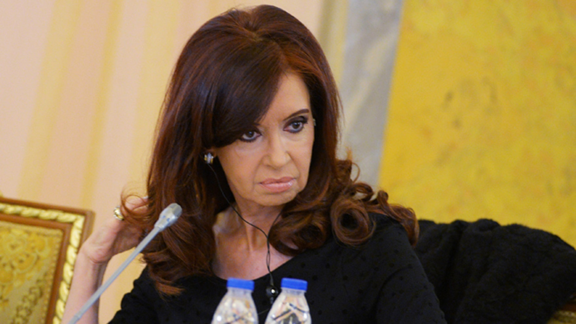 SAINT PETERSBURG - SEPTEMBER 05:  In this handout image provided by Host Photo Agency, President of Argentina Cristina Fernandez de Kirchner attends the first working meeting of the G20 summit on September 5, 2013 in St. Petersburg, Russia.  The G20 summit is expected to be dominated by the issue of military action in Syria while issues surrounding the global economy, including tax avoidance by multinationals, will also be discussed duing the two-day summit.  (Photo by Alexei Danichev/Host Photo Agency via Getty Images)