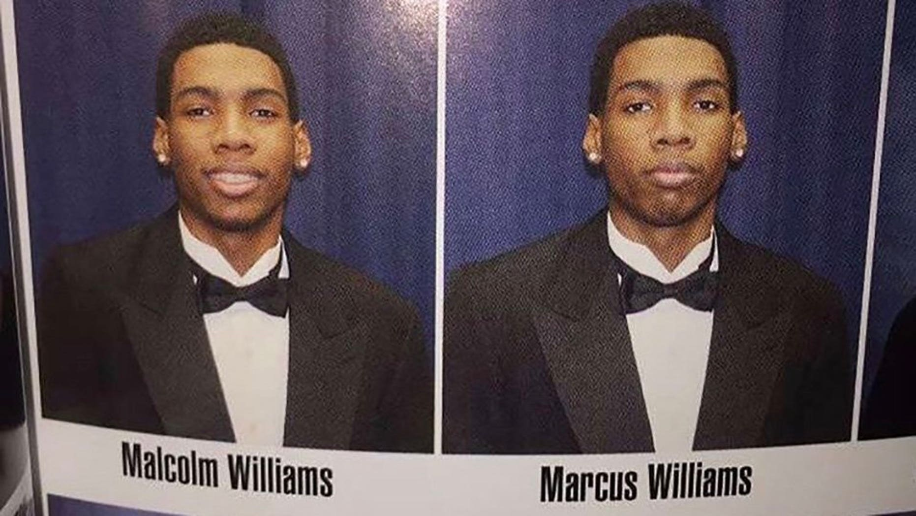 Marcus Williams says his brother, Malcolm, once filled in for him on school picture day when he was sick.