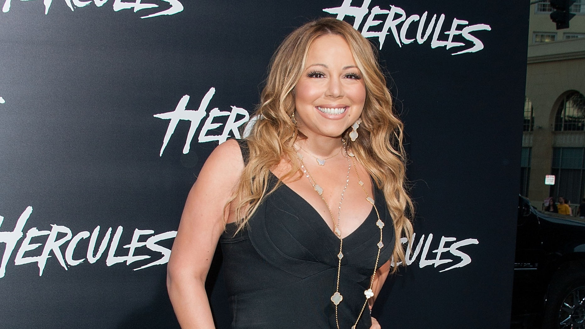 """Mariah Carey arrives at the premiere of """"Hercules"""" on July 23, 2014 in Hollywood, California."""