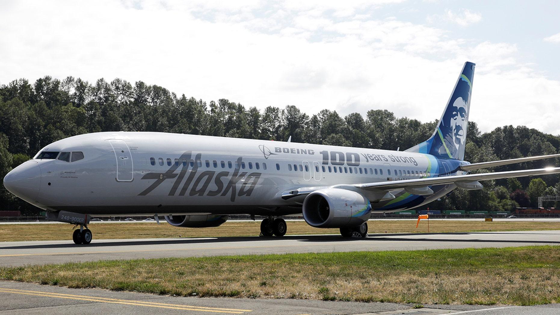 An Alaska Airlines flight declared an emergency after an oil filter bypass light came on mid-flight.