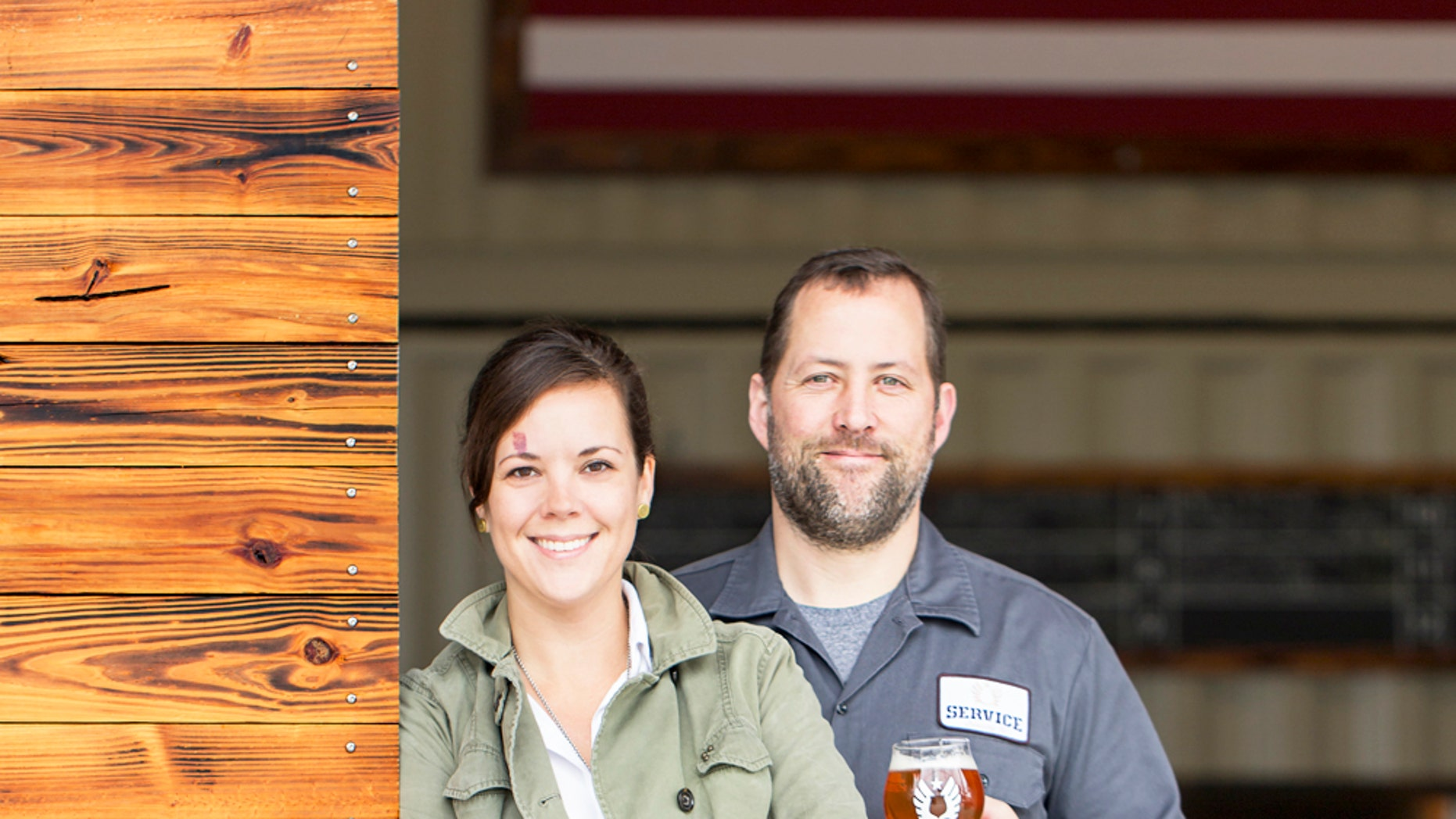 Service Brewing Co.'s Kevin Ryan and Meredith Sutton.