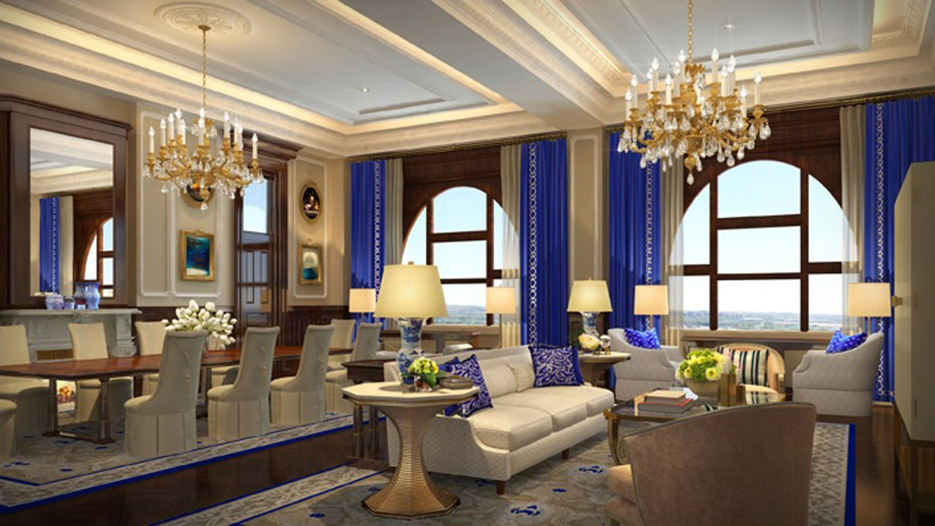 The largest suite at the new hotel is 6,300-square-feet and features a private Pennsylvania Avenue entrance.
