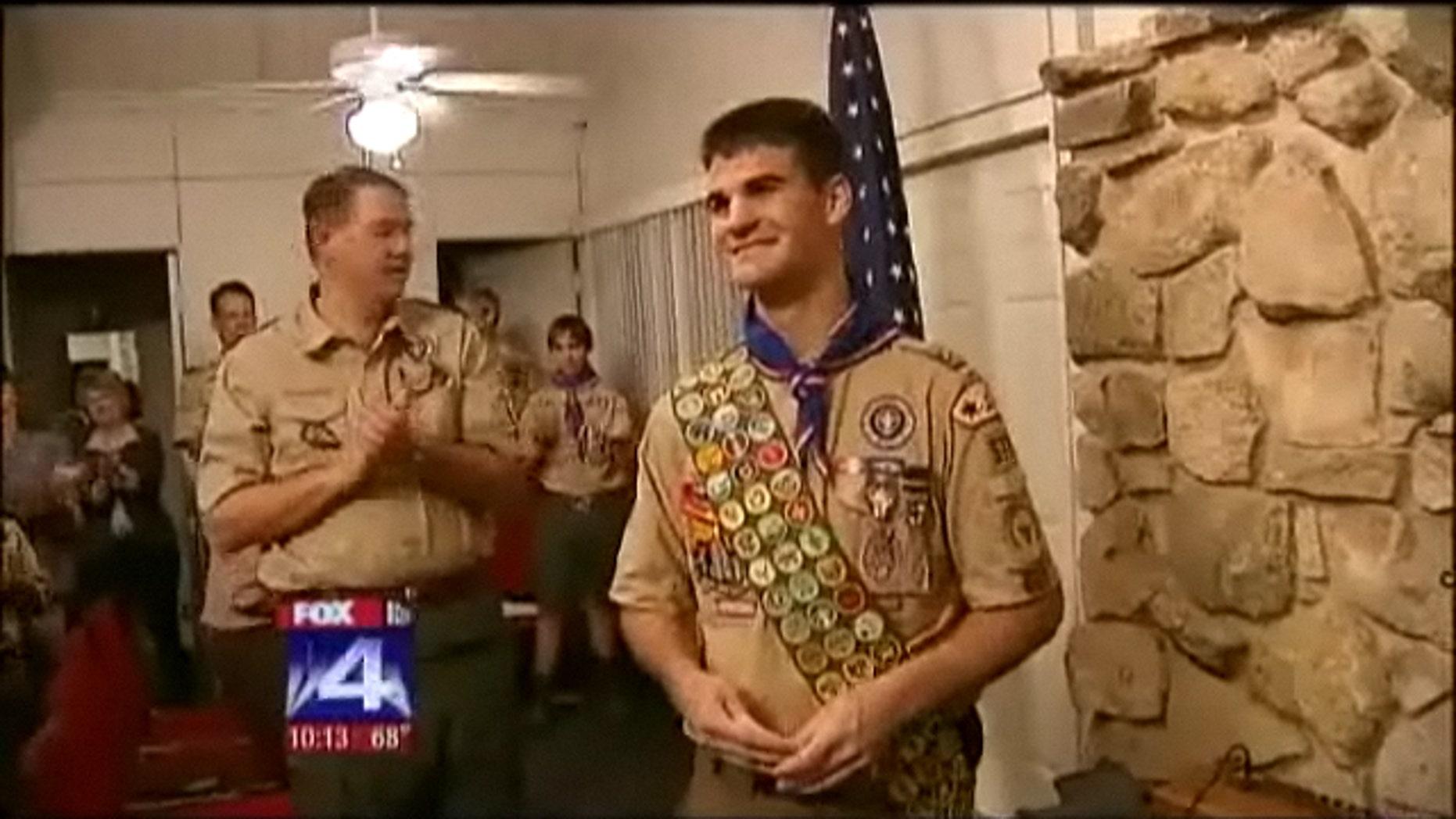 April 9, 2012: Dallas-are Eagle Scout Roland Salatino receives 17th Palm award.