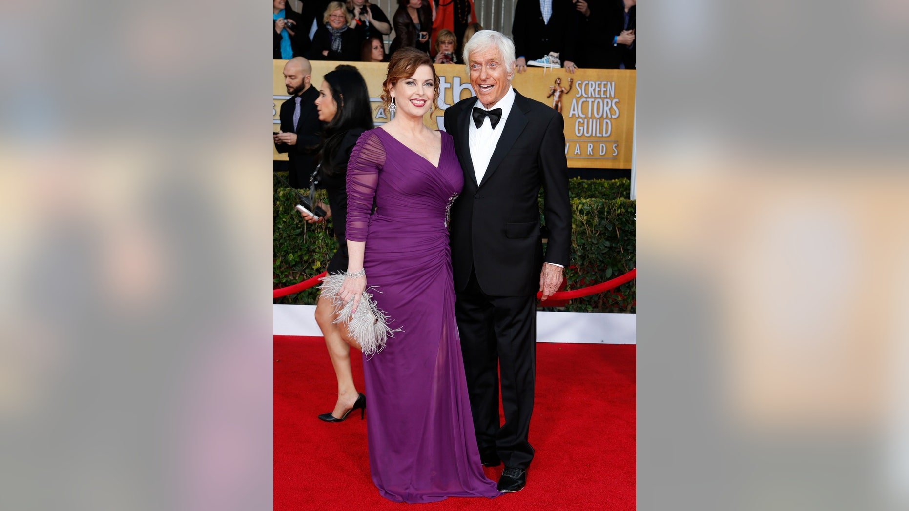 January 27, 2013. Dick Van Dyke and his wife Arlene arrive at the 19th annual Screen Actors Guild Awards in Los Angeles, California.