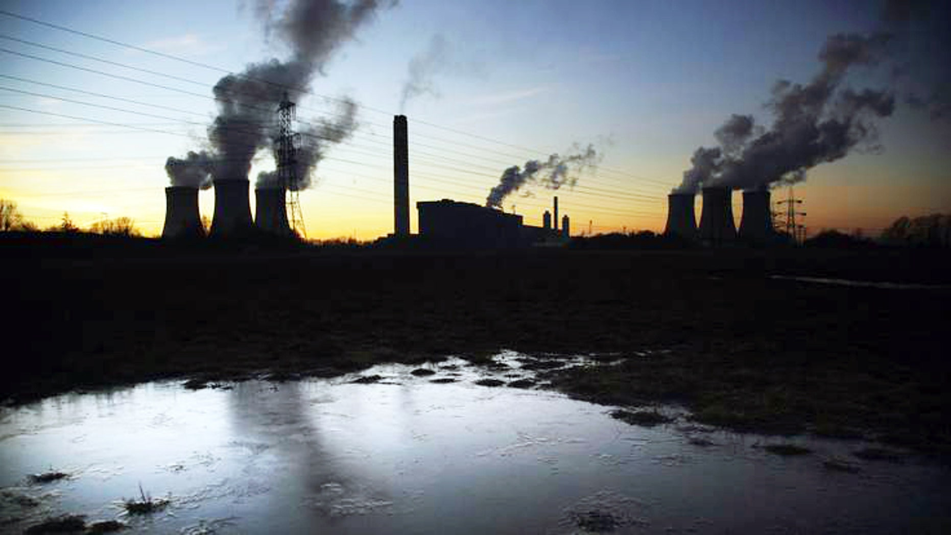 The Didcot power station in Oxfordshire, Britain. (Sky News)