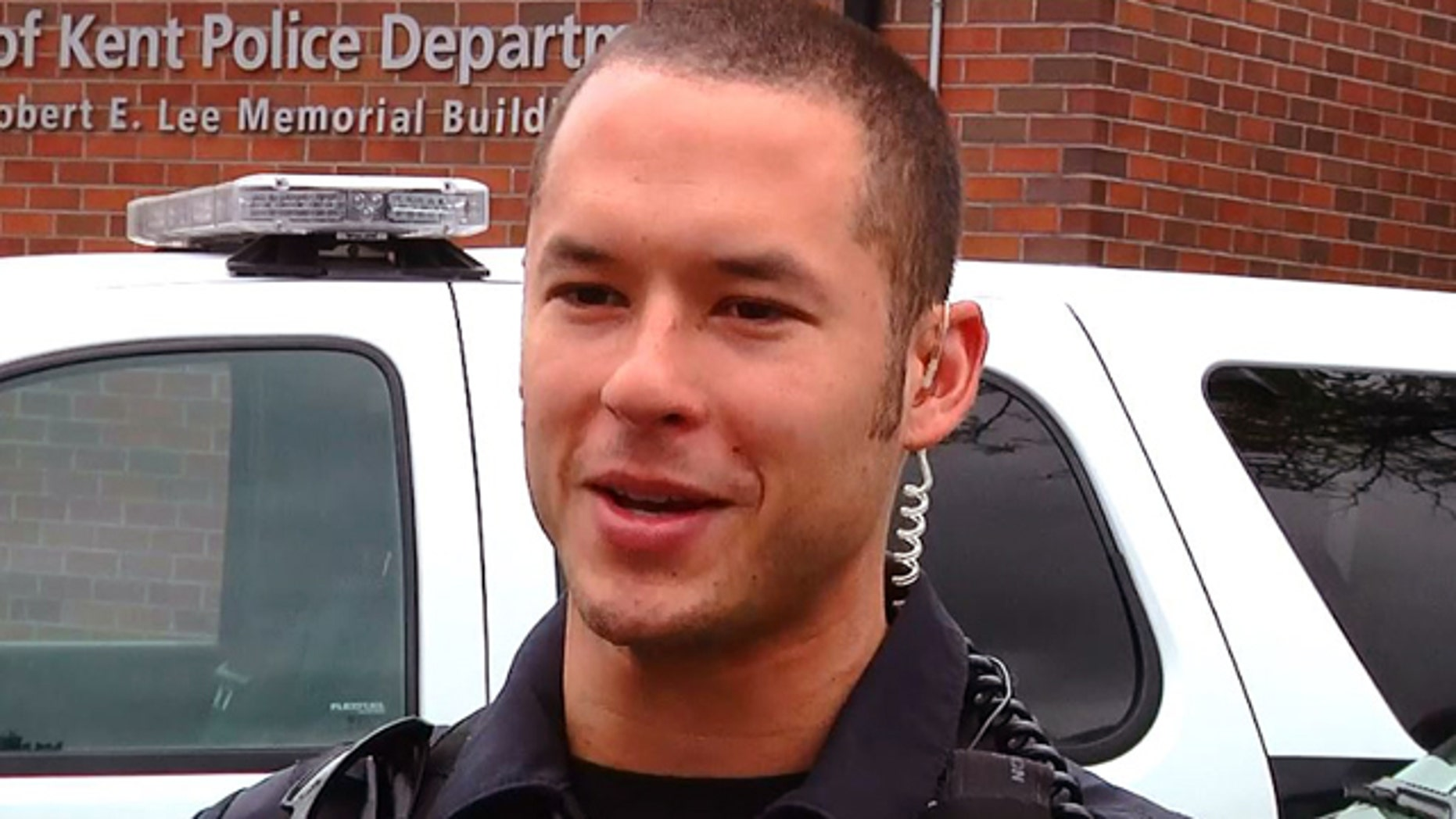 Officer Diego Moreno was killed early Sunday morning.