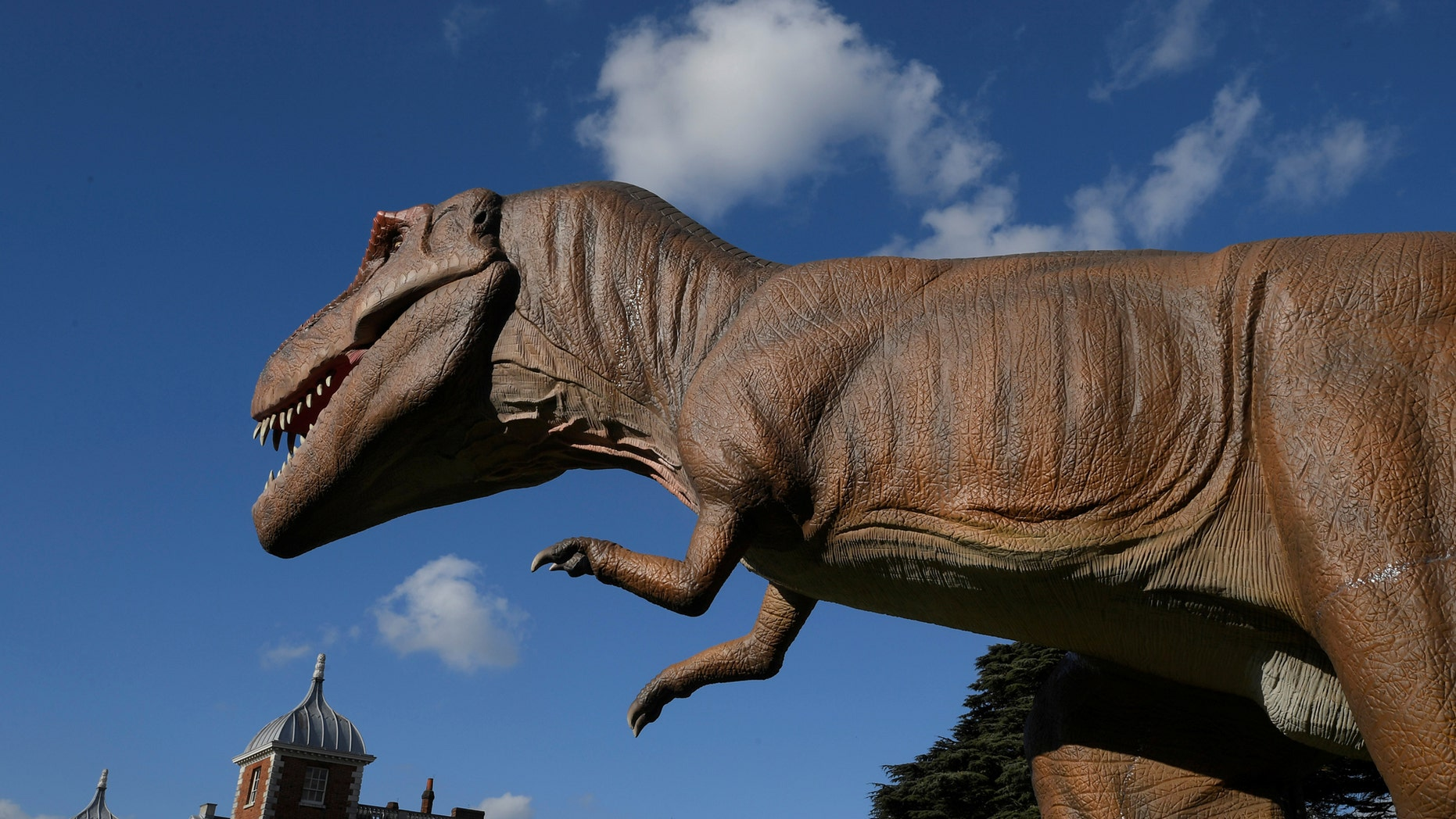 File photo: An animatronic life-size dinosaur is seen ahead of an interactive exhibition, Jurassic Kingdom, at Osterley Park in west London, Britain, March 31, 2017. (REUTERS/Toby Melville)