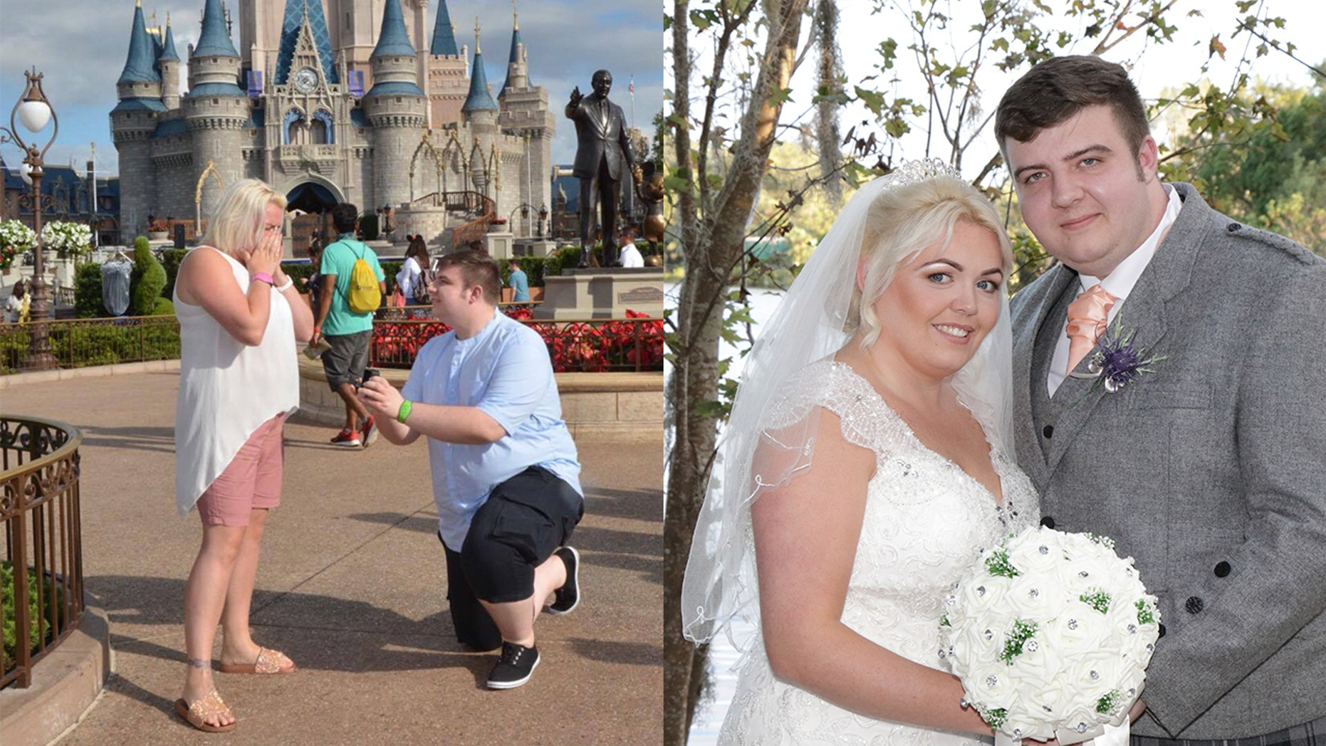A woman got her dream proposal in front of Cinderella's castle at Disney World, as well as a surprise wedding 24 hours later