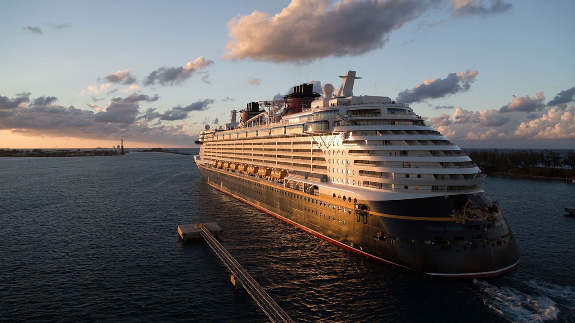 The Disney Dream cruise liner accidentally collided with a pier in Nassau, Bahamas, on Saturday.
