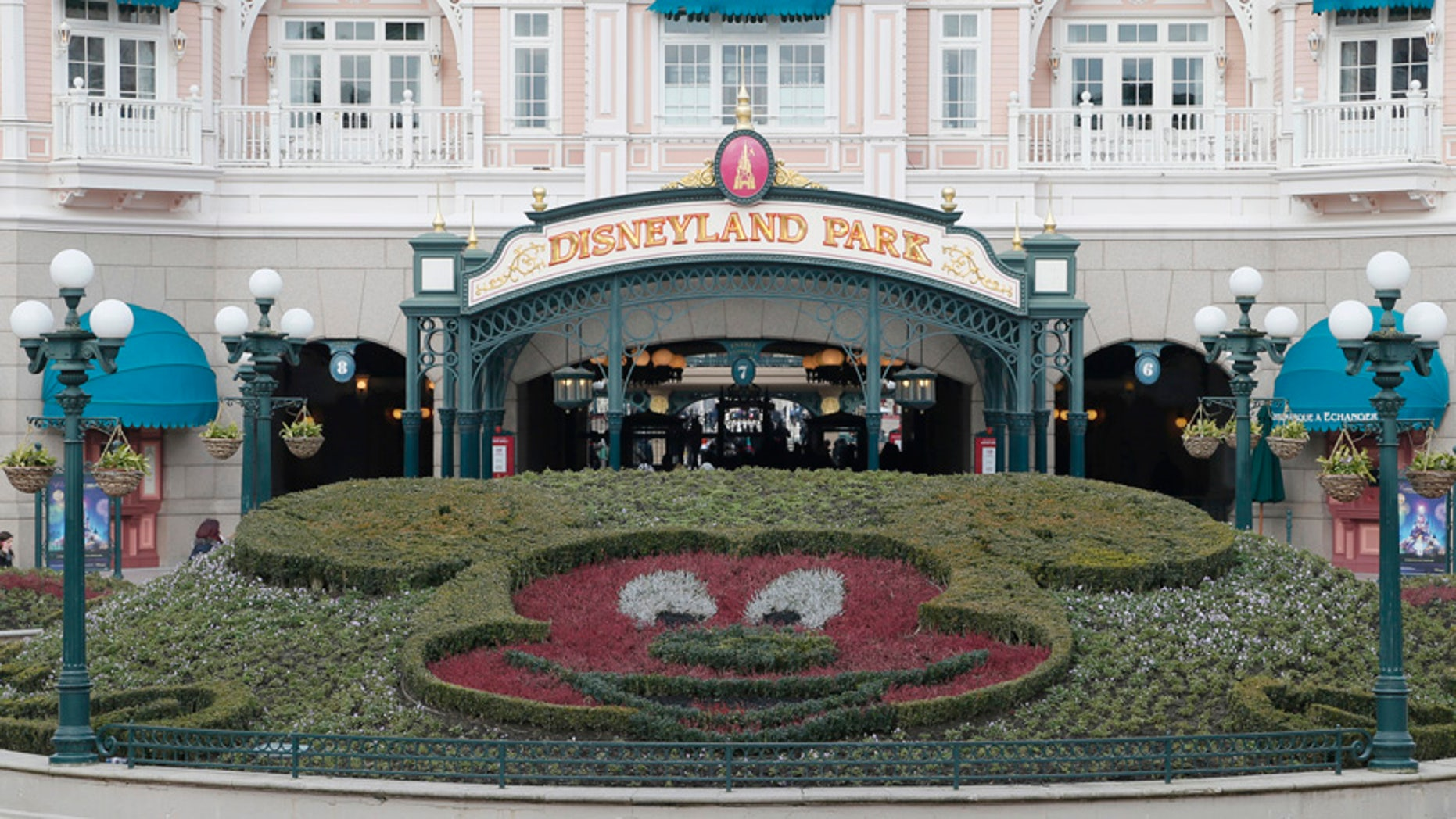 Jan. 21, 2015: A general view of the main entrance to the Disneyland Paris Resort run by EuroDisney S.C.A in Marne-la-Vallee, France.
