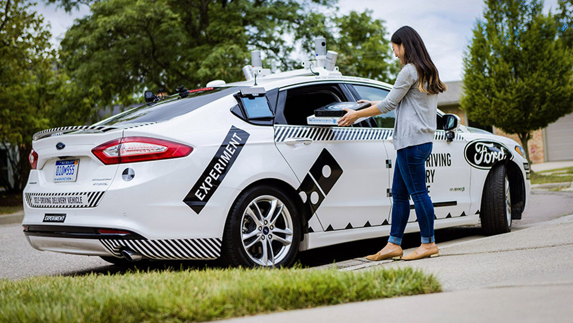 deb0a399a8 Domino s and Ford testing self-driving pizza delivery car