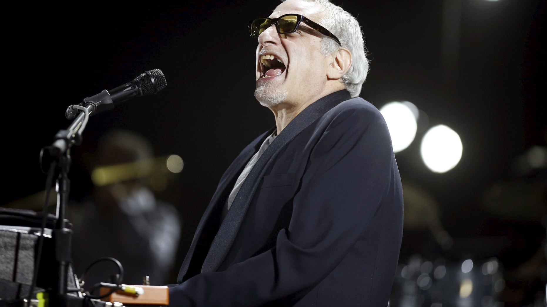"Donald Fagen of the band ""Steely Dan"" performs at the Coachella Valley Music and Arts Festival in Indio, California April 10, 2015. REUTERS/Lucy Nicholson - RTR4WWC0"