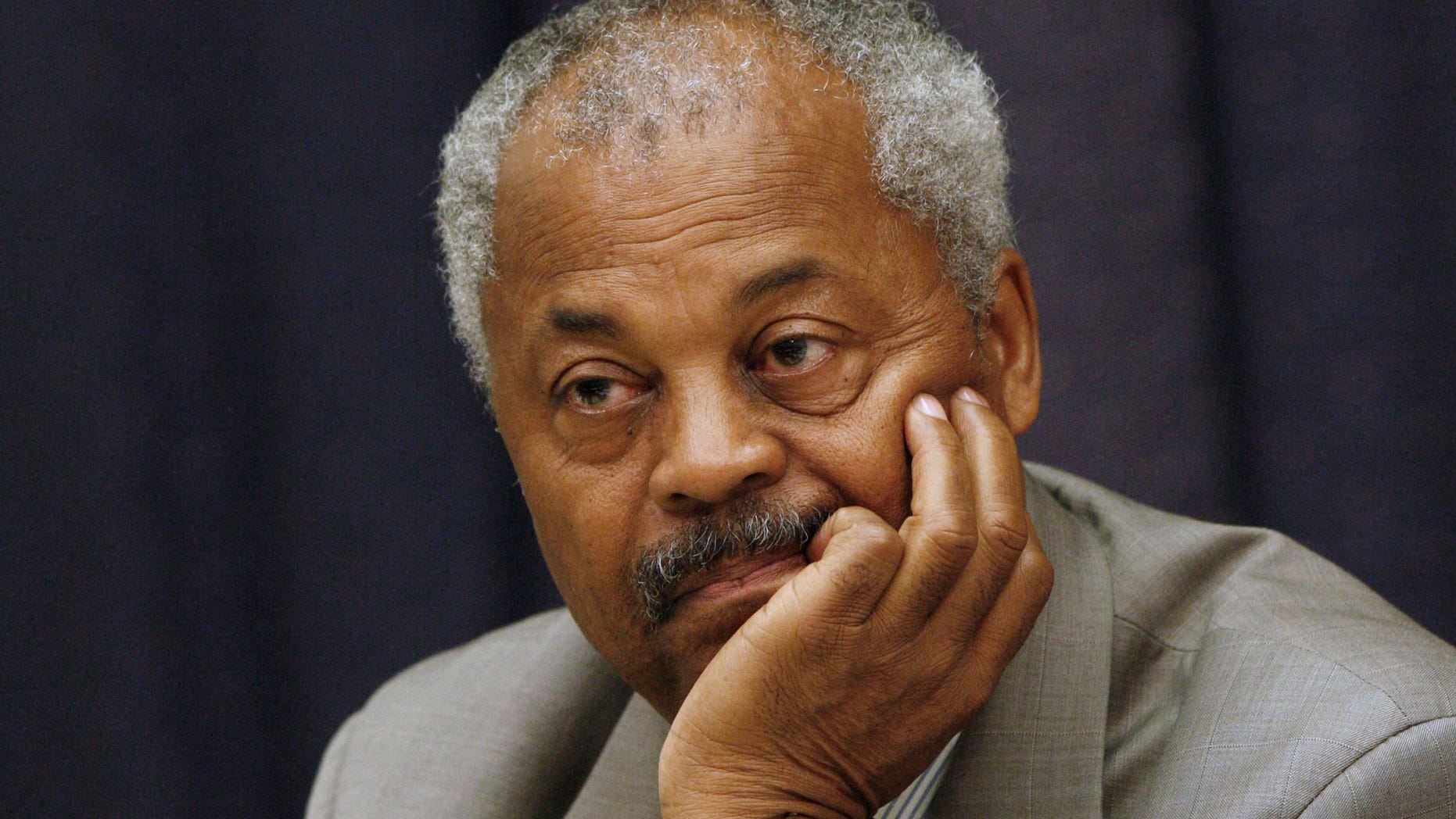In this Oct. 24, 2007, photo, Rep. Donald Payne, D-N.J.,, listens to witness testimony during a hearing on Capitol Hill in Washington.