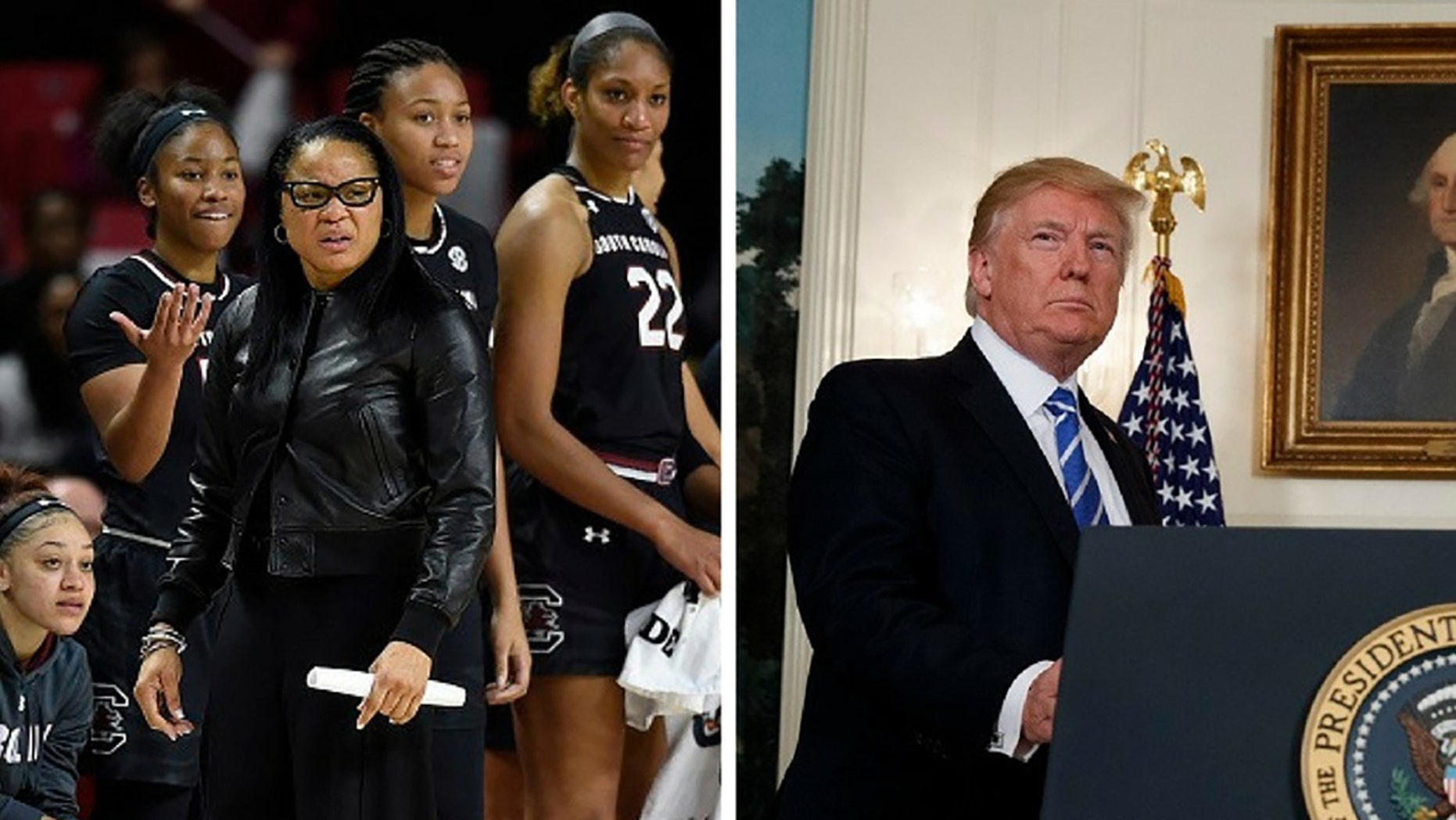 The South Carolina women's basketball team has declined President Trump's invite to the White House.