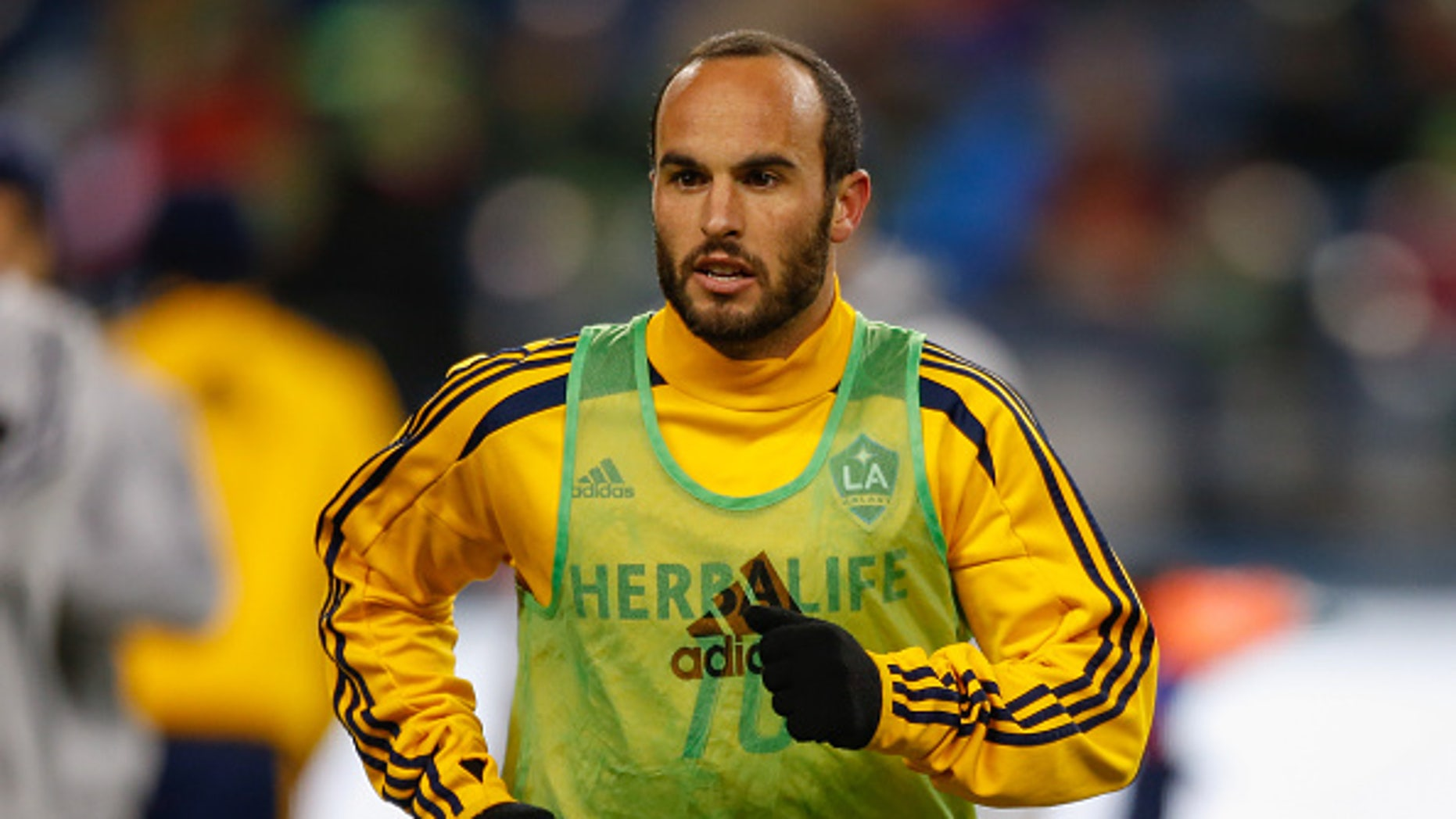 SEATTLE, WA - NOVEMBER 30:  Landon Donovan #10 of the Los Angeles Galaxy warms up prior to the match against the Seattle Sounders FC during the Western Conference Final at CenturyLink Field on November 30, 2014 in Seattle, Washington.  (Photo by Otto Greule Jr/Getty Images)