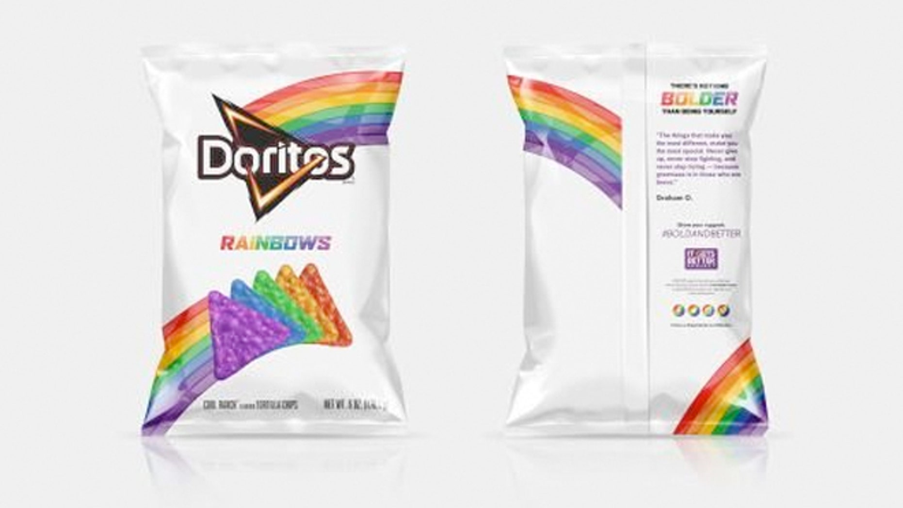The Rainbow Doritos will only be available for a limited time.