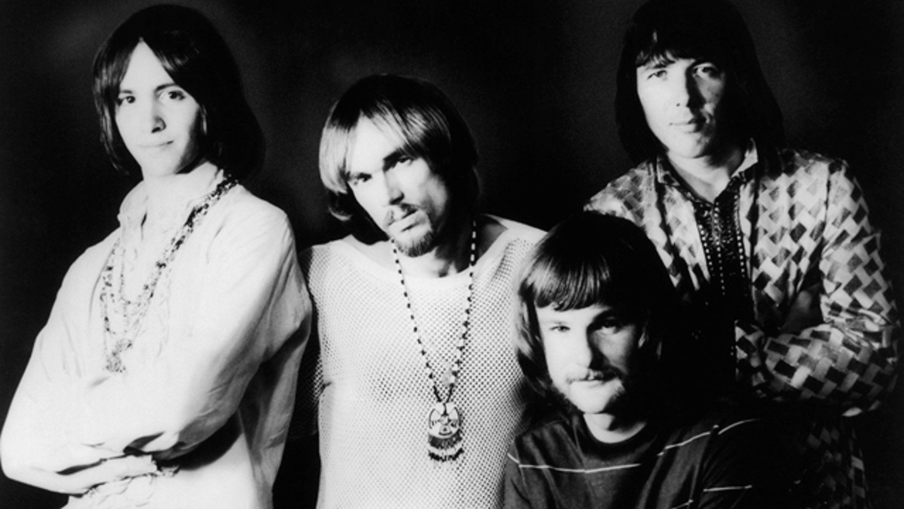 April 9, 1969: This photo shows members of Iron Butterfly, from left, Erik Brann, Ron Bushy, Lee Dorman, and Doug Ingle.