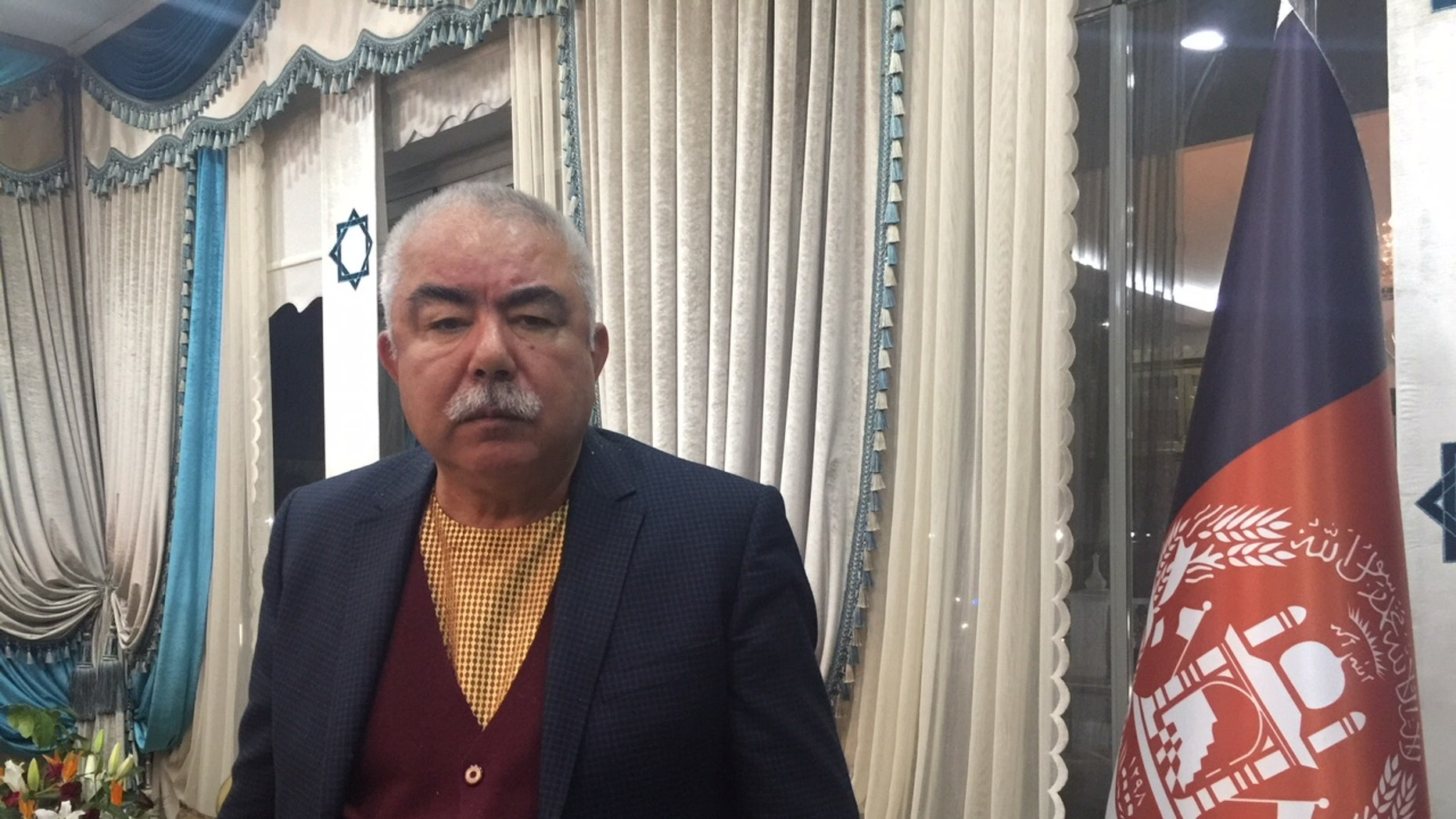 General Abdul Rashid Dostum, from his Ankara home, in exile from Afghanistan