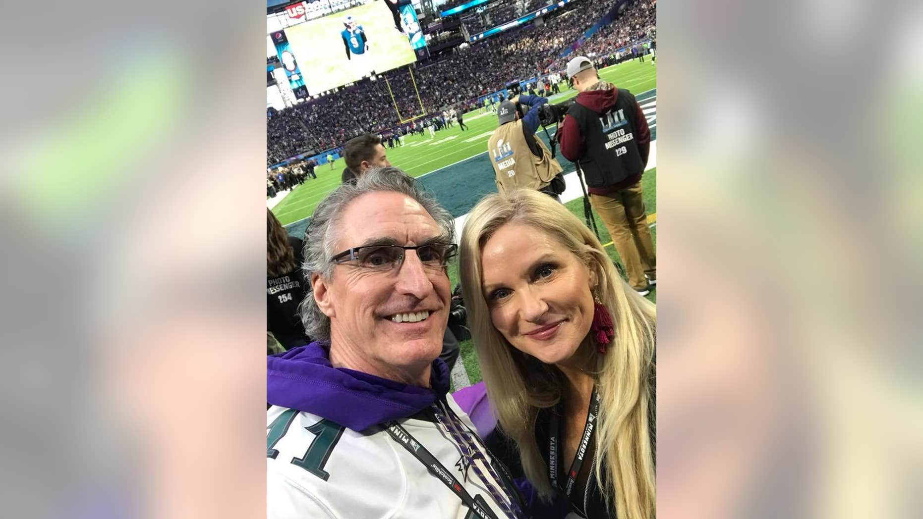 North Dakota Gov. Doug Burgum and his wife were criticized for watching the Super Bowl from a suite provided by the energy company Xcel.