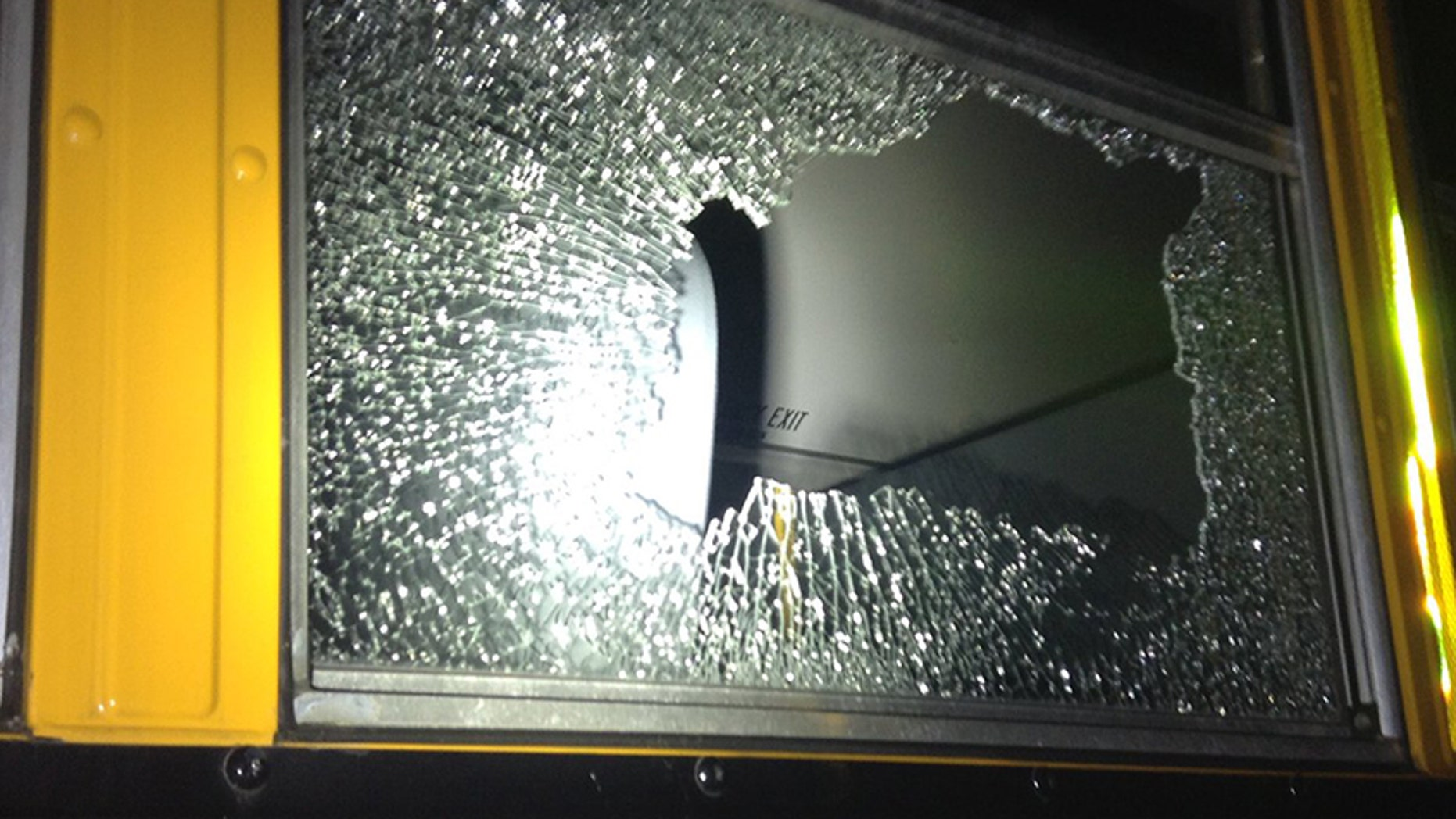 A 10-year-old boy allegedly shot at two school buses with a BB gun.