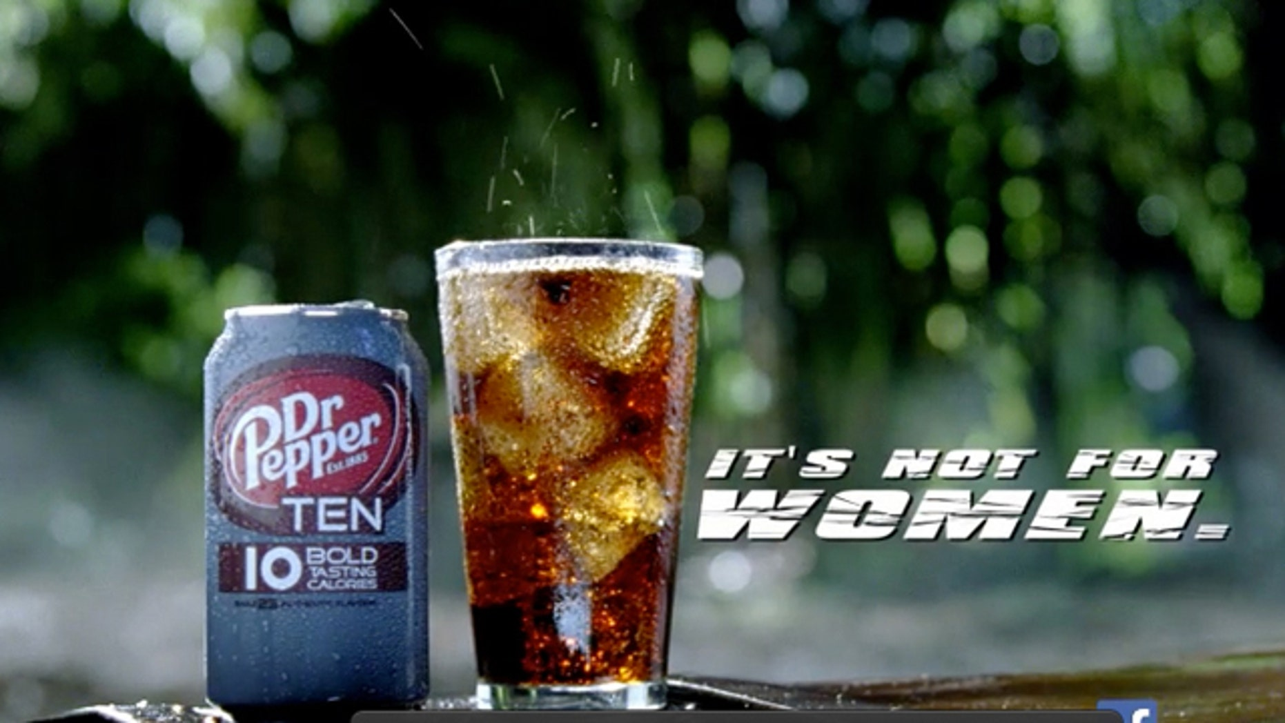This video frame grab provided by the Dr Pepper Snapple Group, shows the new Dr Pepper TEN beverage.