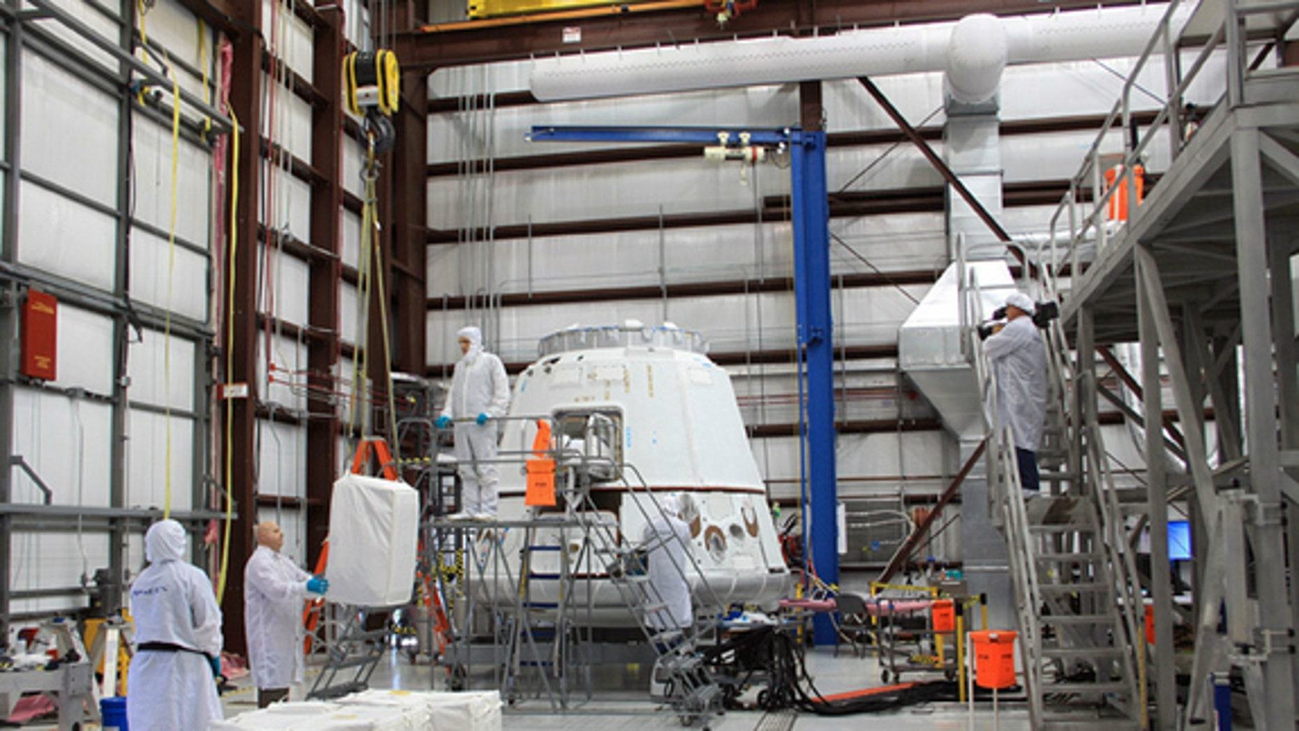 """SpaceX tweeted on April 22, 2012: """"Another shot from cargo loading with @NASA in anticipation of the upcoming demo flight to the Space Station."""""""