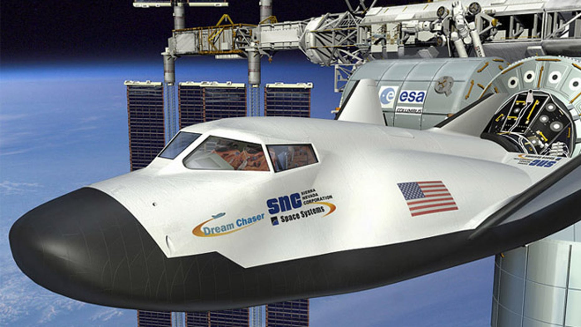 The Dream Chaser, designed by Sierra Nevada, one of several firms vying to build space taxis for NASA.