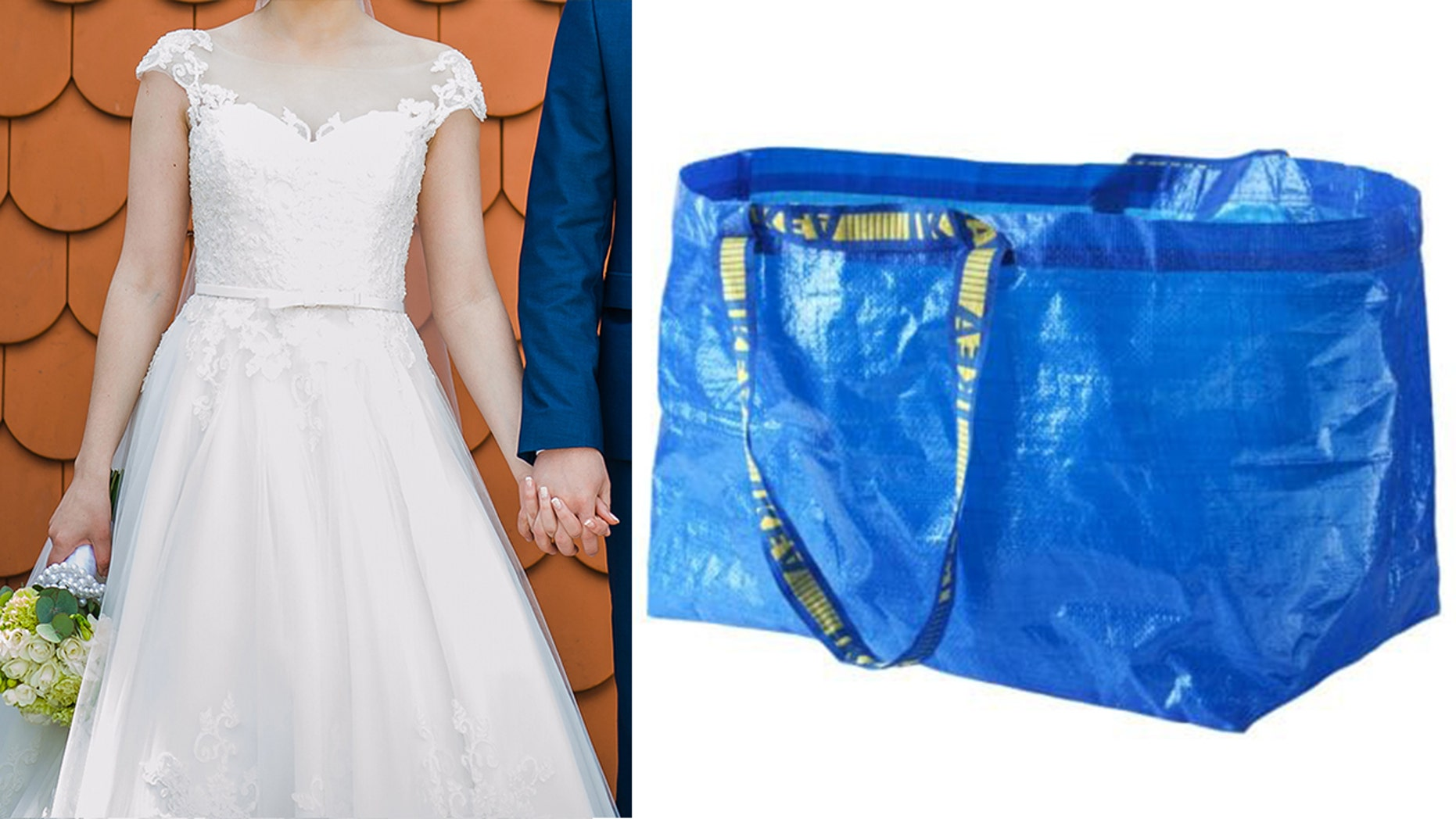 One clever bride invented an inexpensive hack with the help of an Ikea bag for using the bathroom on her big day.