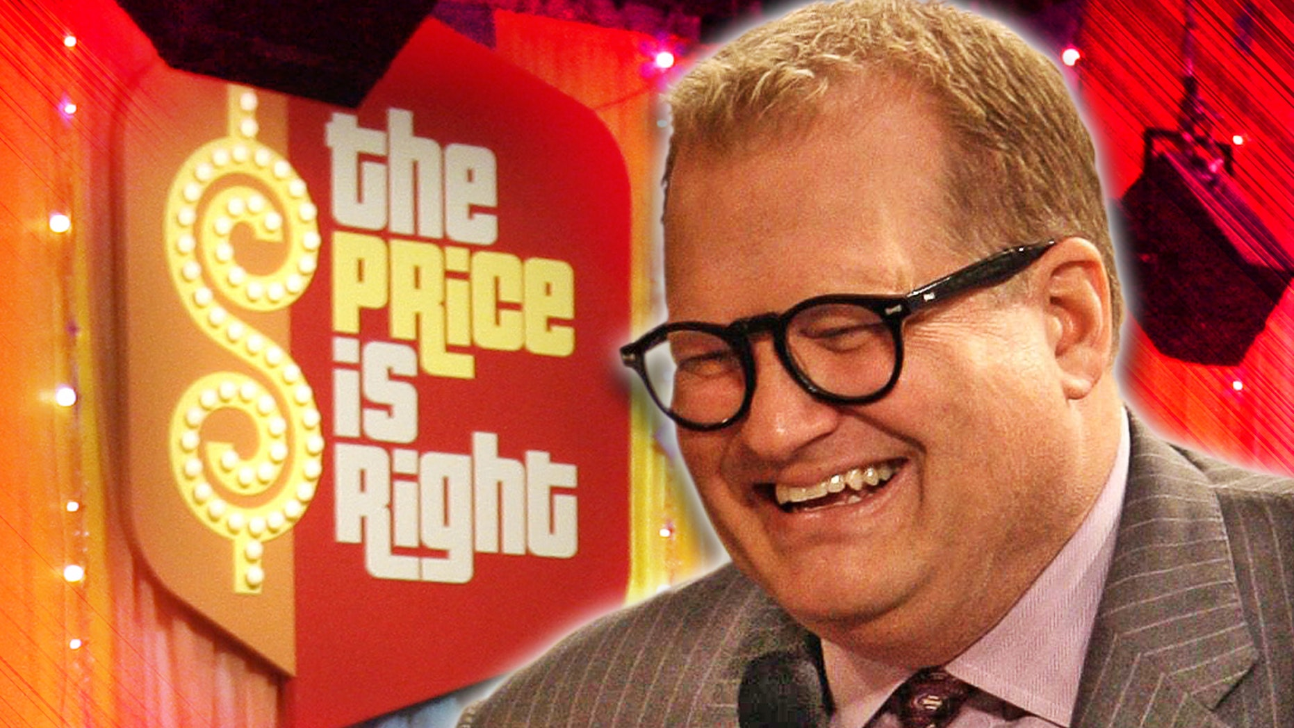 """Comedian Drew Carey, new host of the game show """"The Price is Right,"""" talks with the audience during a break in taping of the game show at CBS's Bob Barker Studio in Los Angeles Thursday, Oct. 4, 2007. (AP Photo/Kevork Djansezian)"""
