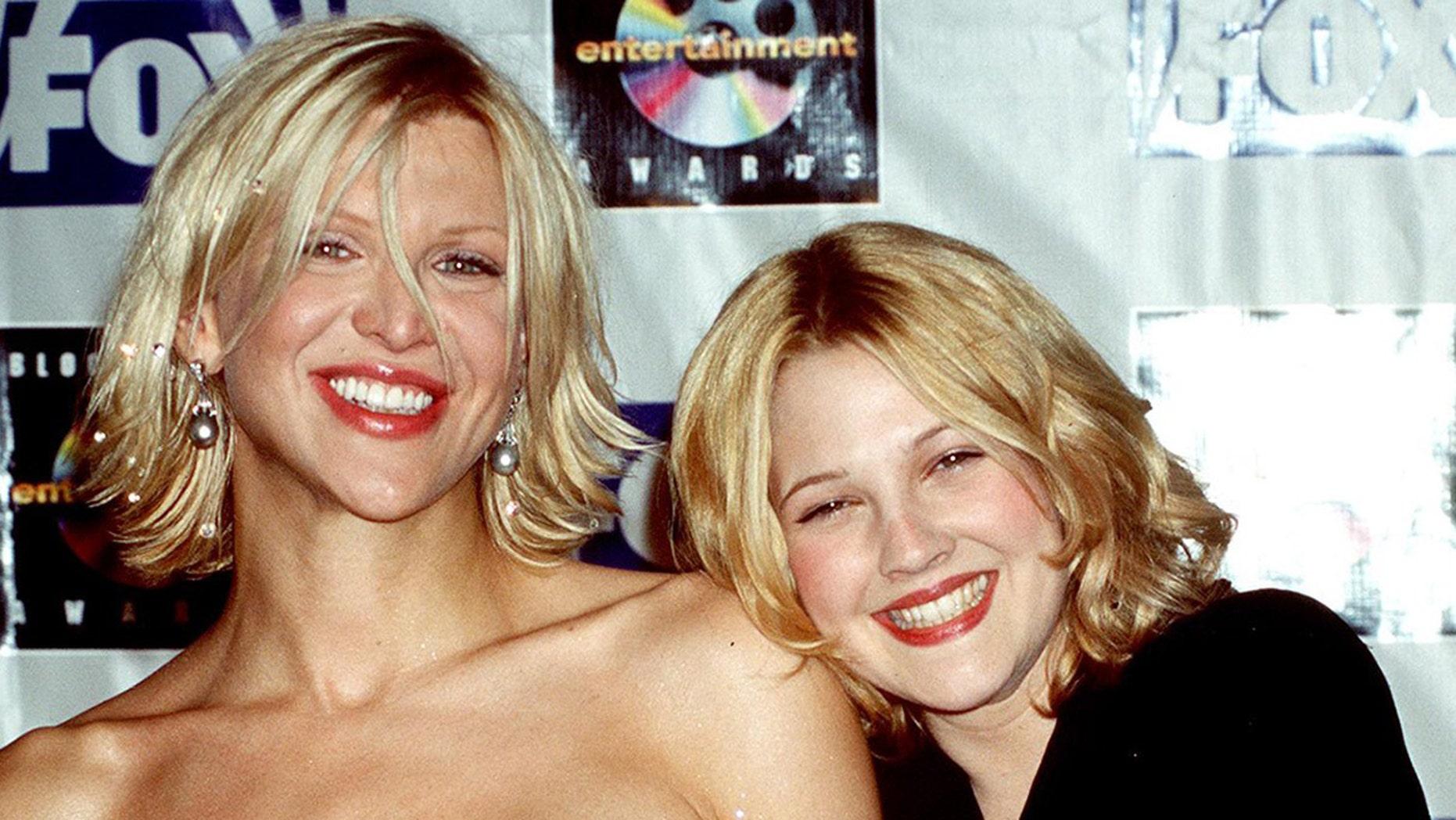 Drew Barrymore recalls one wild night with Courtney Love.
