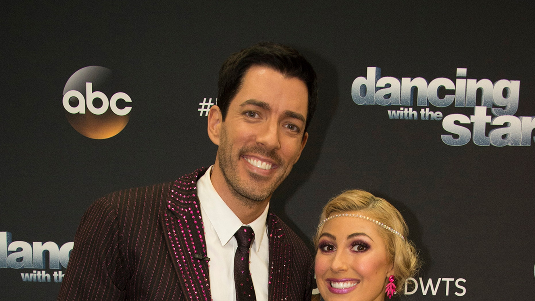 """DANCING WITH THE STARS - """"Episode 2502"""" - The 13 celebrities dance to some of the most classic ballroom styles that everyone knows and loves, as Ballroom Night comes to """"Dancing with the Stars,"""" live, MONDAY, SEPTEMBER 25 (8:00-10:01 p.m. EDT), on The ABC Television Network. Each couple will perform timeless favorites, including a quickstep, waltz, tango, foxtrot or Viennese waltz, vying for America's vote. At the end of the night, the first elimination of the season will take place. (ABC/Eric McCandless)DREW SCOTT, EMMA SLATER"""