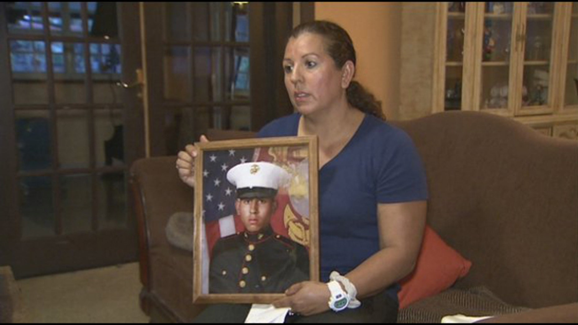 Rossana Lucas says she answered her cell phone because she had not heard from her Marine son in months.