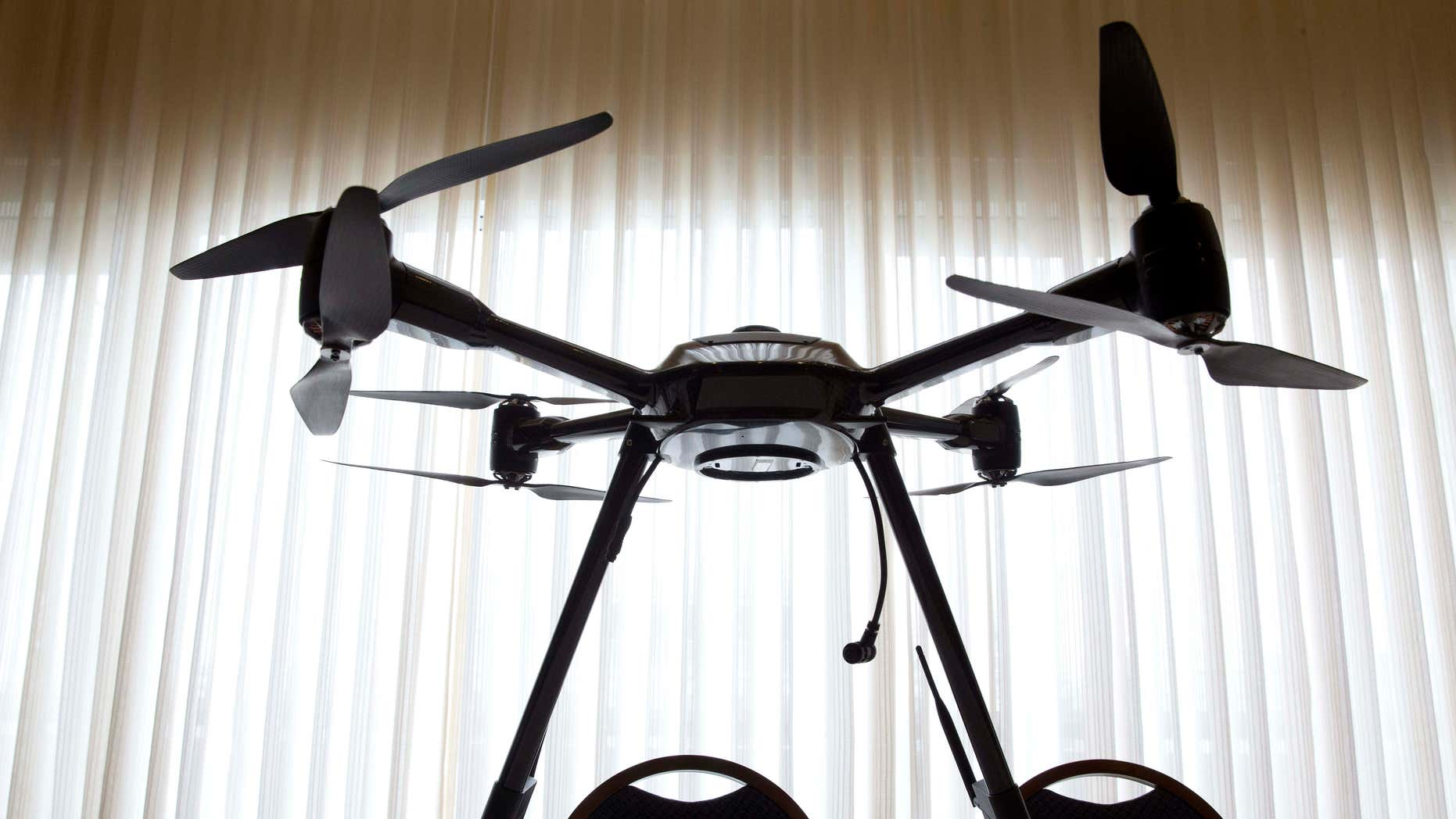 Jan. 20, 2015: Aerialtronics Altura Zenith drone is seen at an event at the National Press Club in Washington.