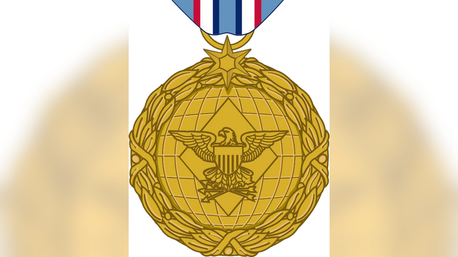 FILE: Undated: This image released by the Department of Defense shows the obverse view with ribbon of the newly announced Distinguished Warefare Medal.