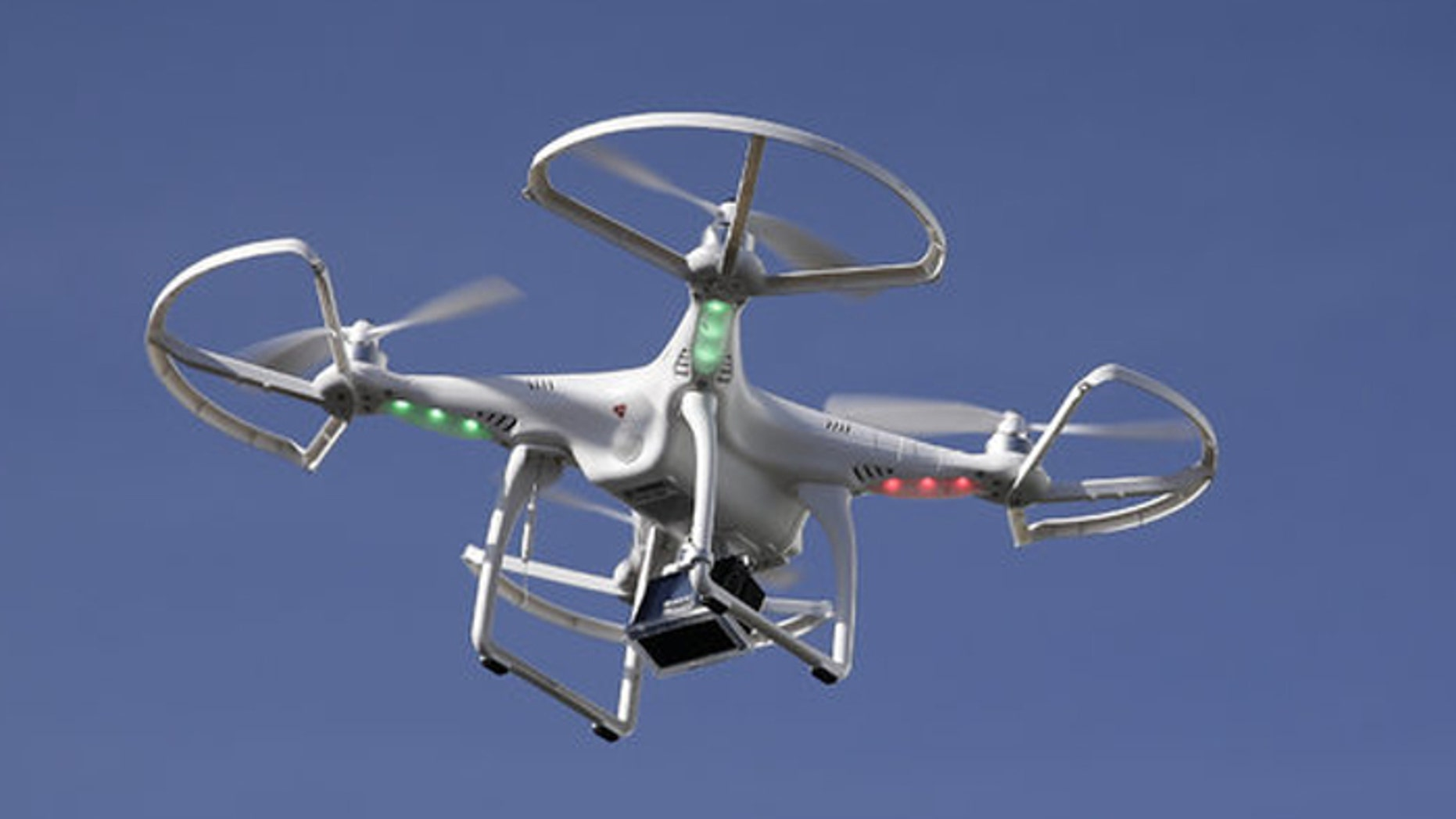 A drone such as this one can be a big advantage to a hunter, but most sportsmen consider hunting with drones cheating. (Associated Press)
