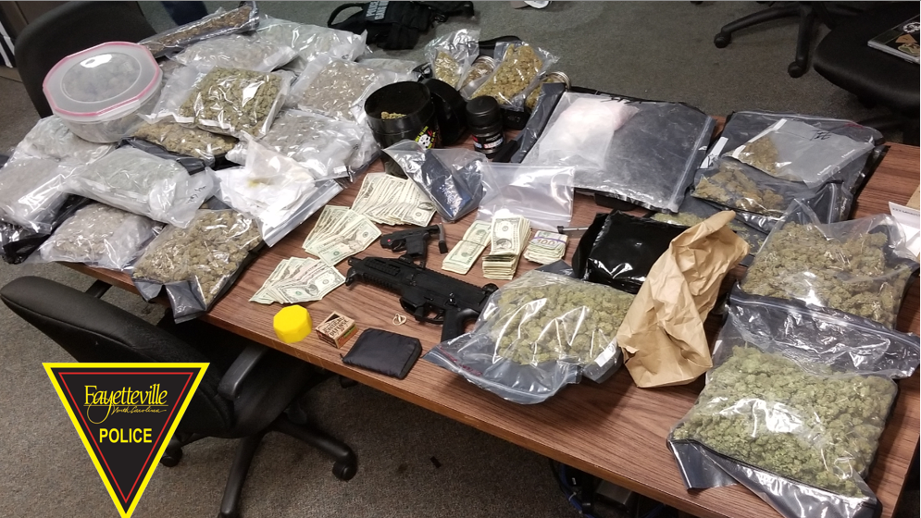 North Carolina investigators seized 100 pounds of marijuana and $70,000 in cash among other illegal items from a home day care in Fayettville last week.