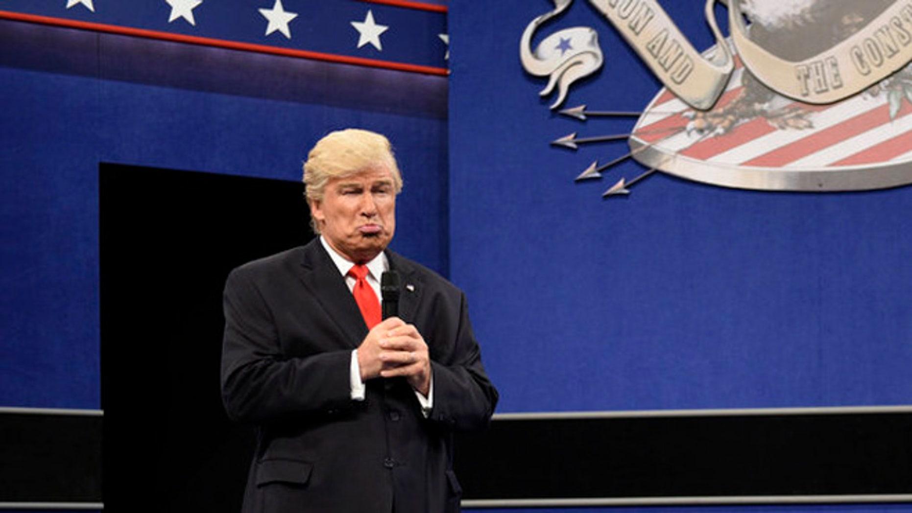 "Alec Baldwin returned to ""SNL"" as Donald Trump."