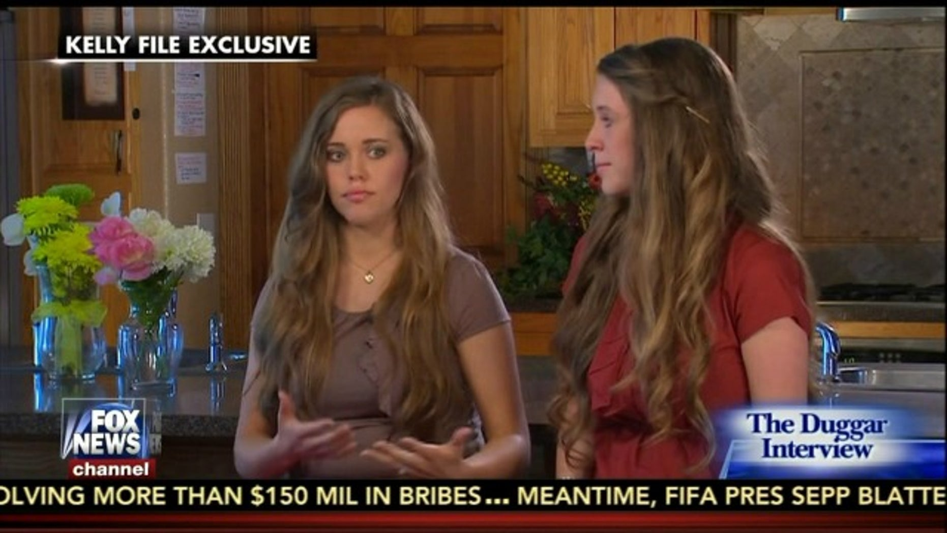 Jill and Jessa Duggar on 'The Kelly File.""