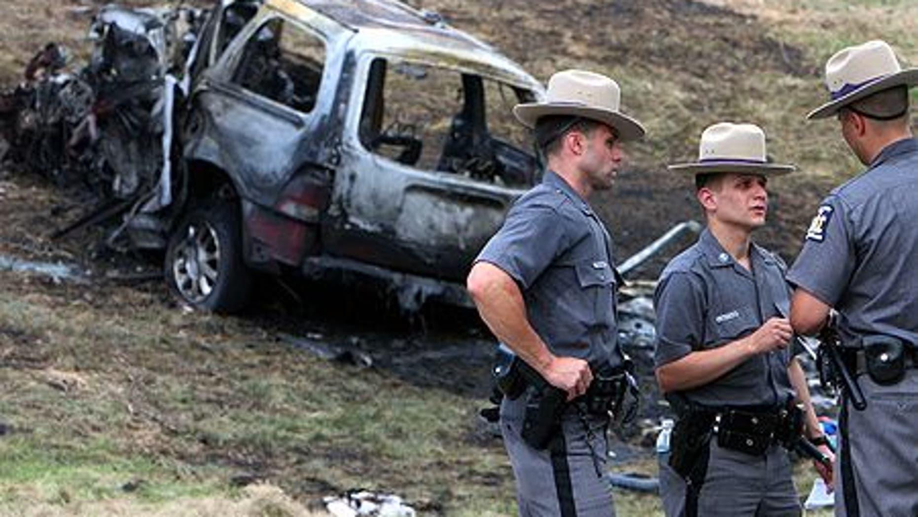 Scene of suspected drunk driving incident in Hawthorne, N.Y. in 2009.