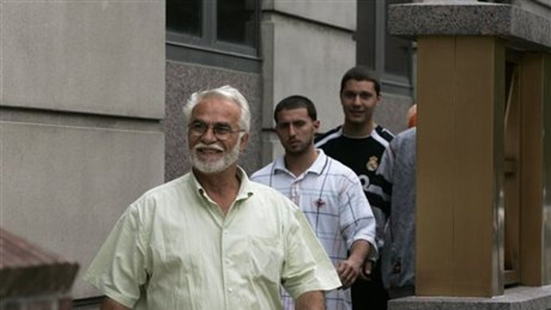 Ferik Duka, left, father of three of the men accused of conspiring to attack soldiers at Fort Dix.