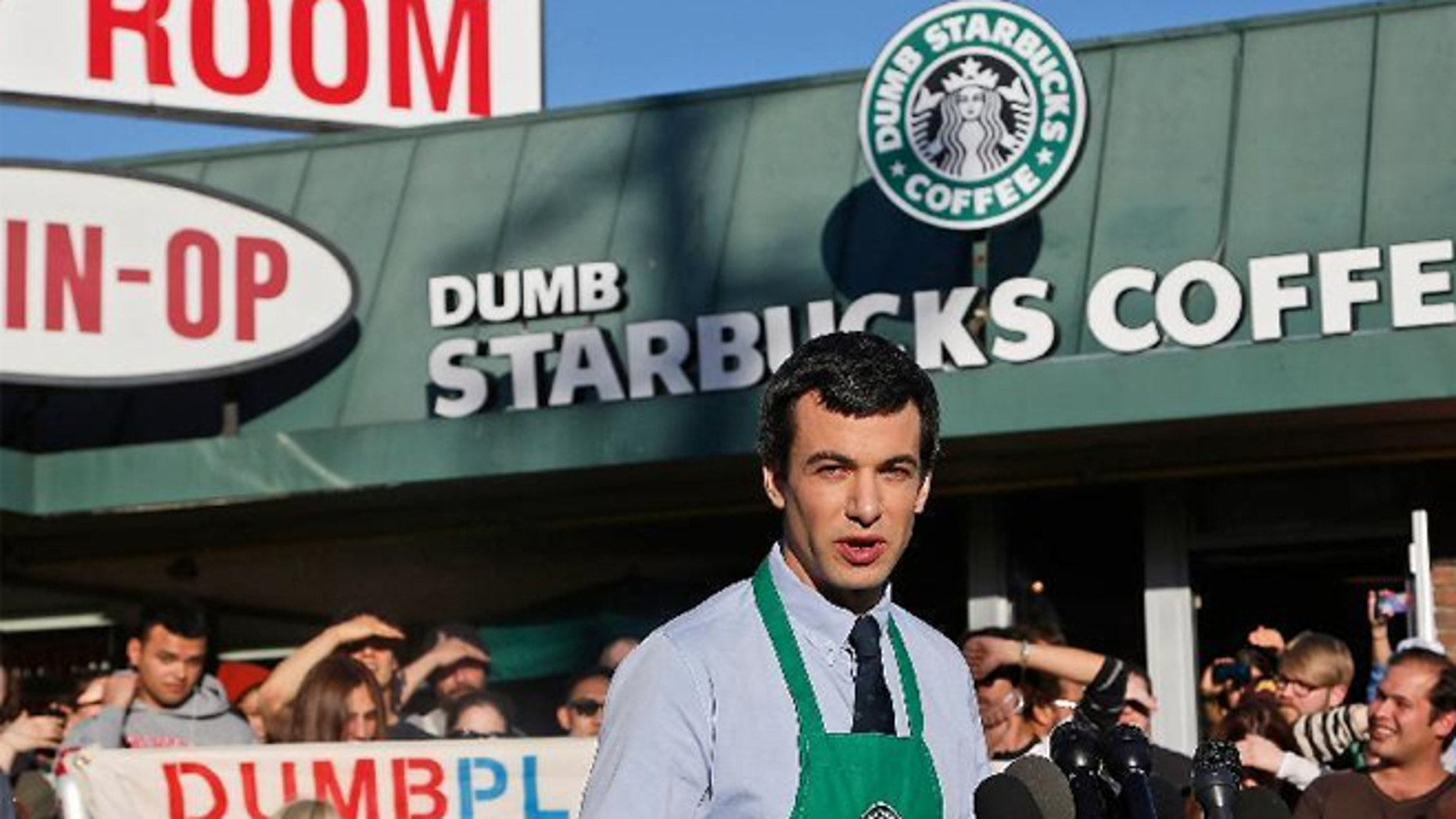 """Comedian Nathan Fielder of the Comedy Central show """"Nathan For You"""" comes forward as the brainchild of """"Dumb Starbucks."""""""