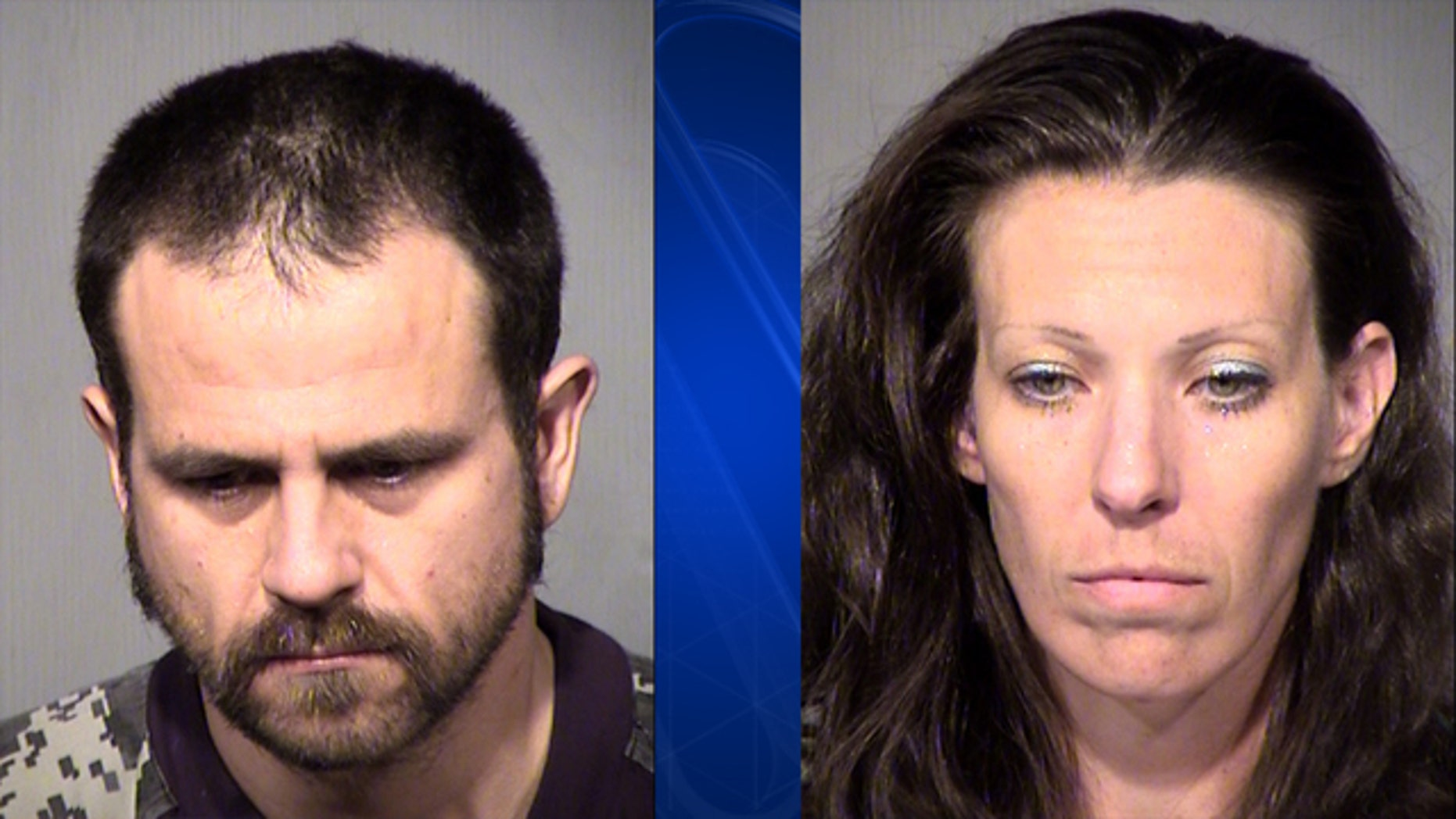 Matthew Kevin Dunlap (left) and Marisa Ann Claire (right) are facing multiple charges involving a young girl in Arizona.