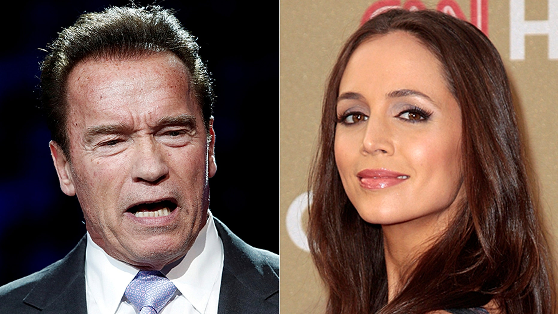 """Arnold Schwarzenegger said he was """"shocked and saddened for Eliza (Dushku)"""" but proud of her for coming forward with her molestation allegations."""